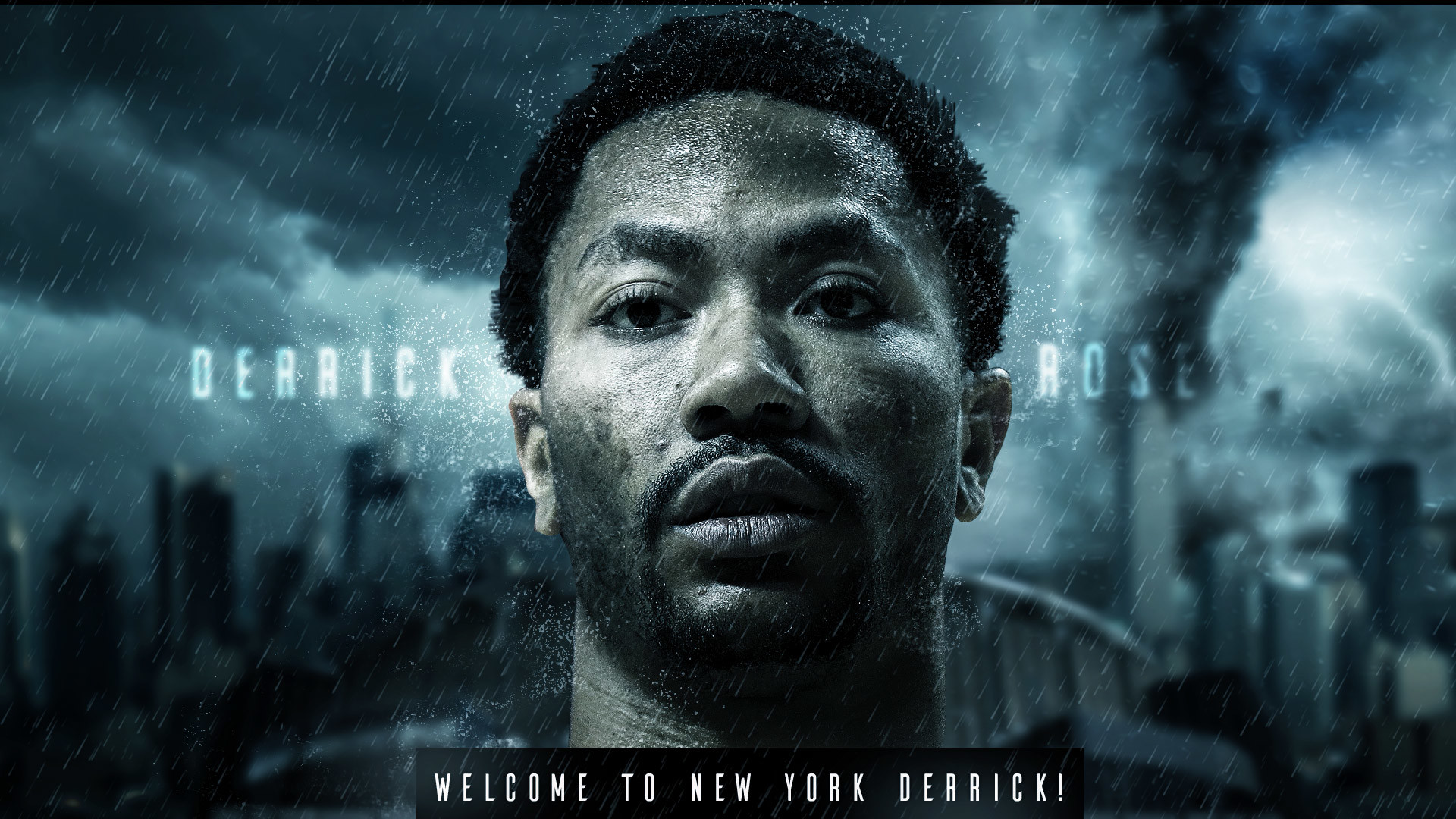 1920x1080 Derrick Rose Welcome to Knicks 1920×1080 Wallpaper
