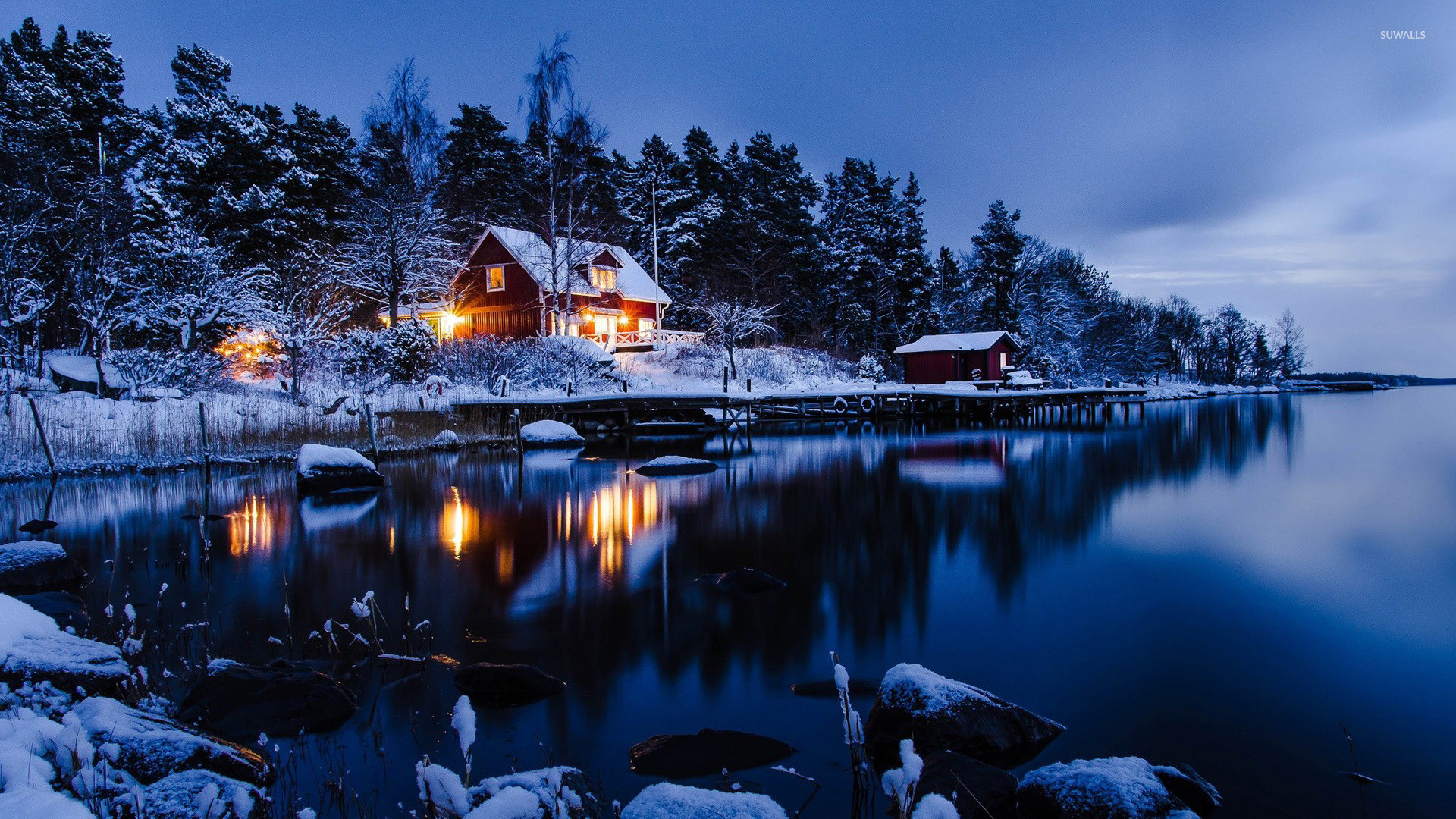 1920x1080  Lakeside winter cabin wallpaper · 0 · Download · Res: 2560x1600  ...