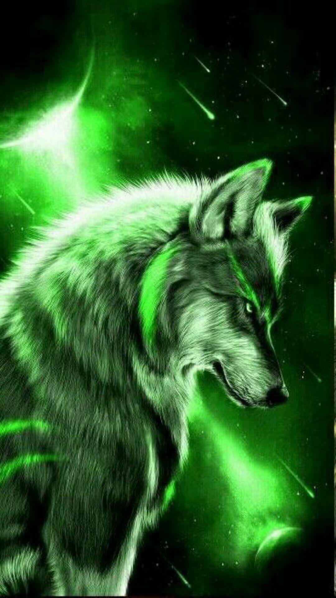 Wallpaper Galaxy Wolf