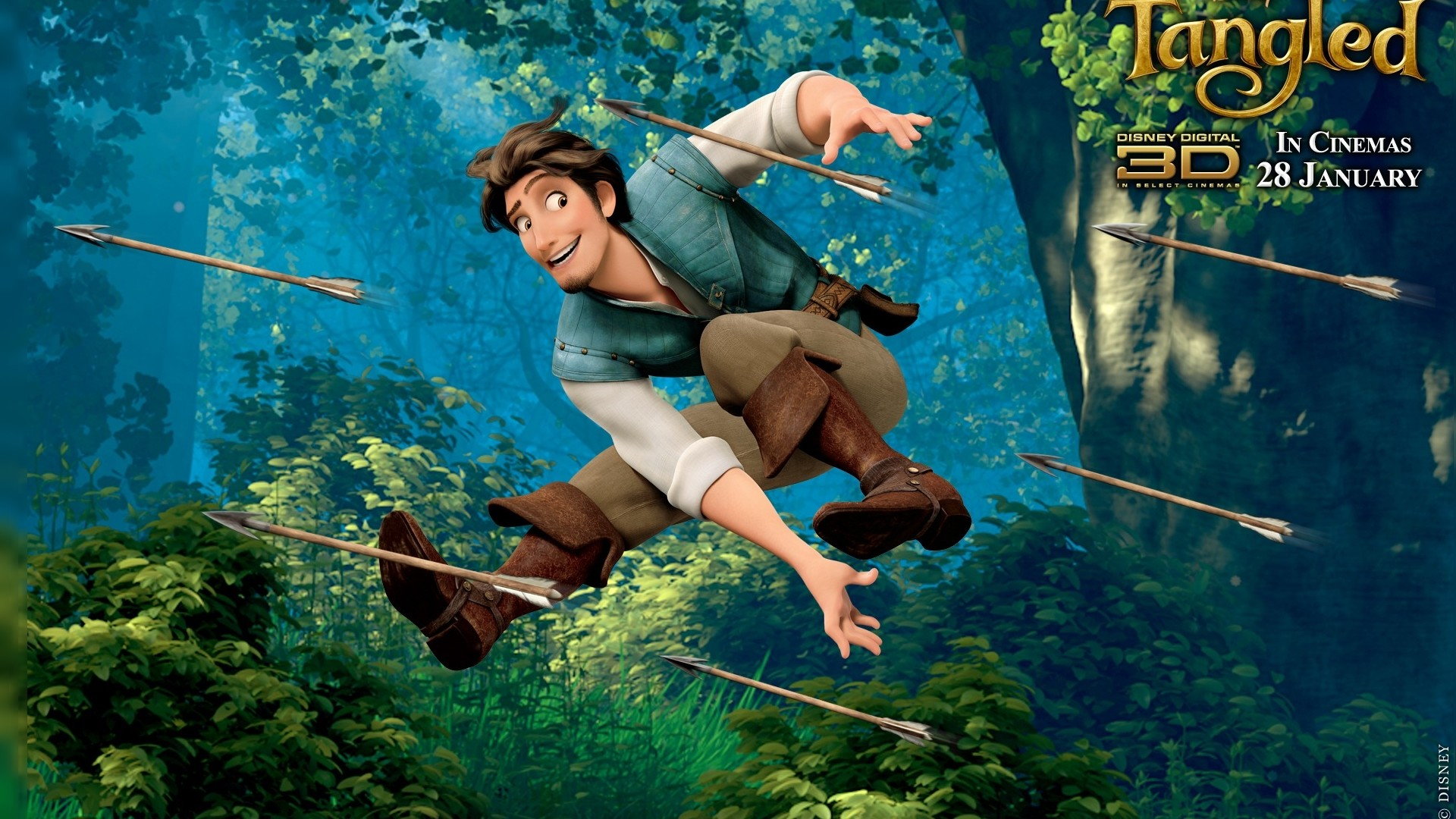 1920x1080 wallpaper, Tangled, Flynn Rider, Animated Movie