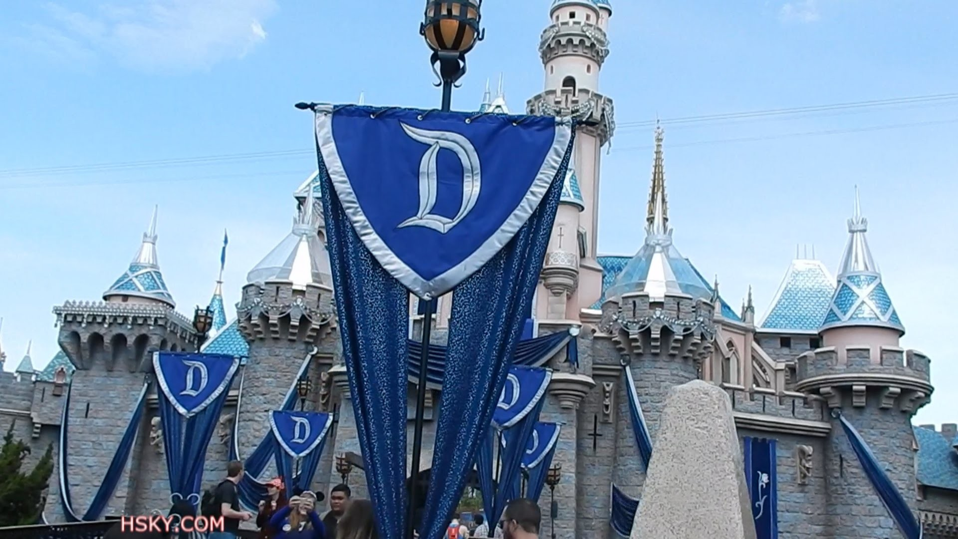 1920x1080 V#343 HSKY Disneyland Diamond Castle Royal Blue 60th Anniversary new look  2015 HD - YouTube
