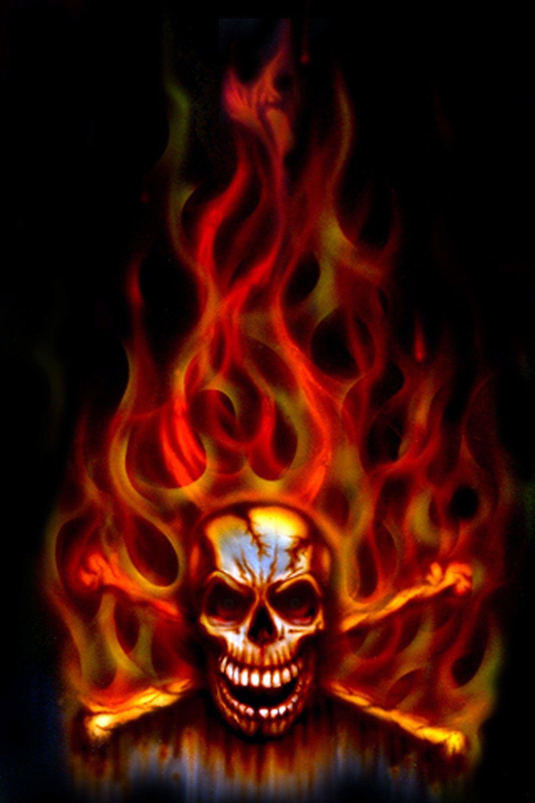 1799x2700 Images For > Green Flaming Skull Wallpaper