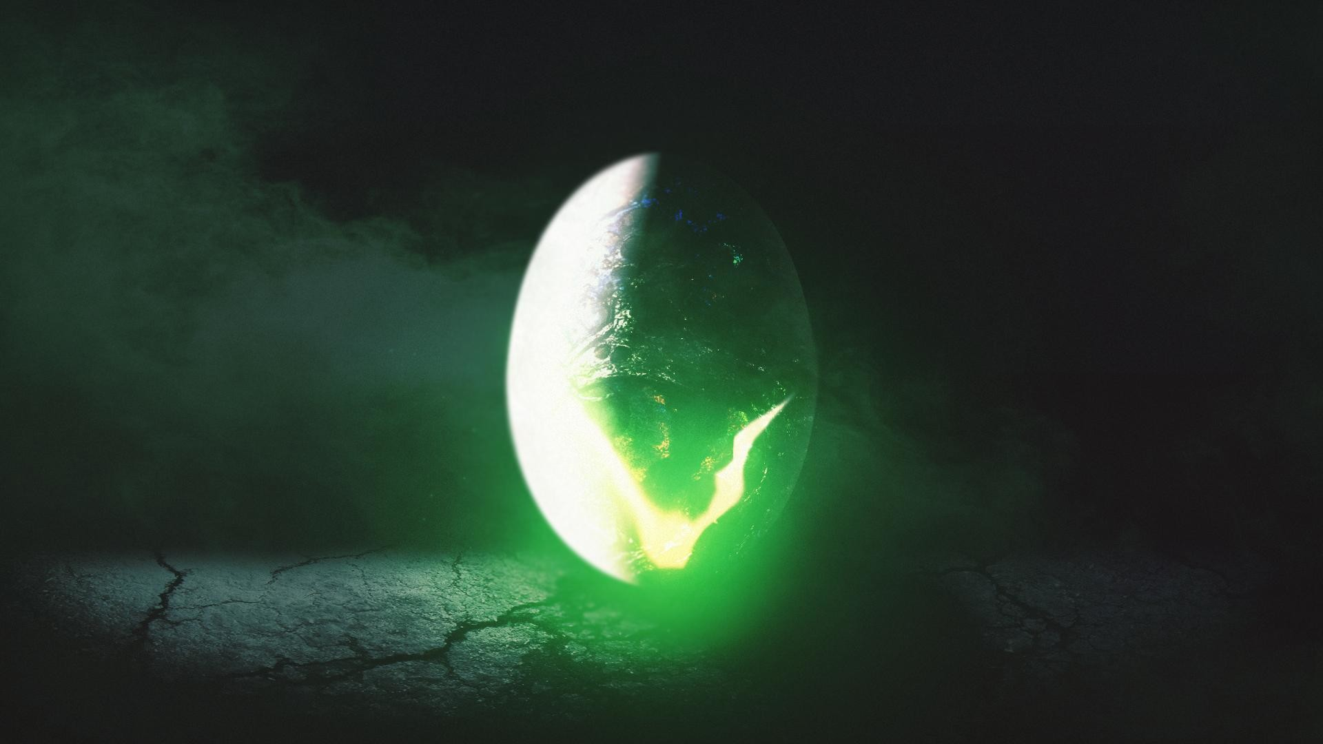 1920x1080 Alien egg thing desktop wallpaper. AI + PS + random images and textures.  Hope someone likes it.
