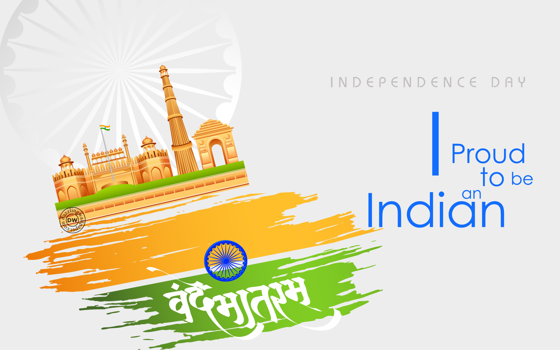 1920x1200 Independence Day, 15 August, Vande Mataram, Proud to be an Indian, Jai