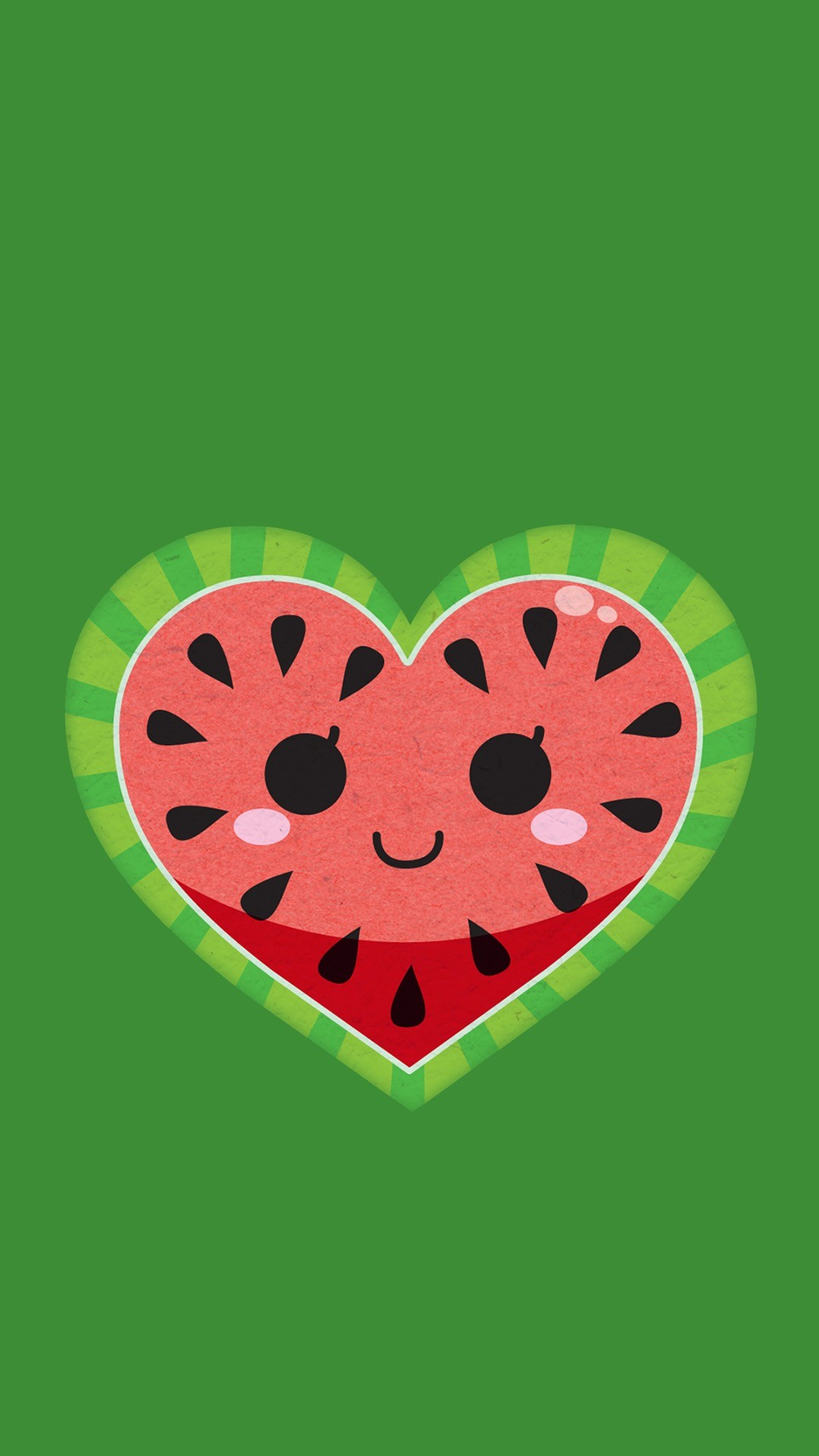 watermelon cute wallpapers melon iphone kawaii heart backgrounds background summer girly deviantart water everything phone loves