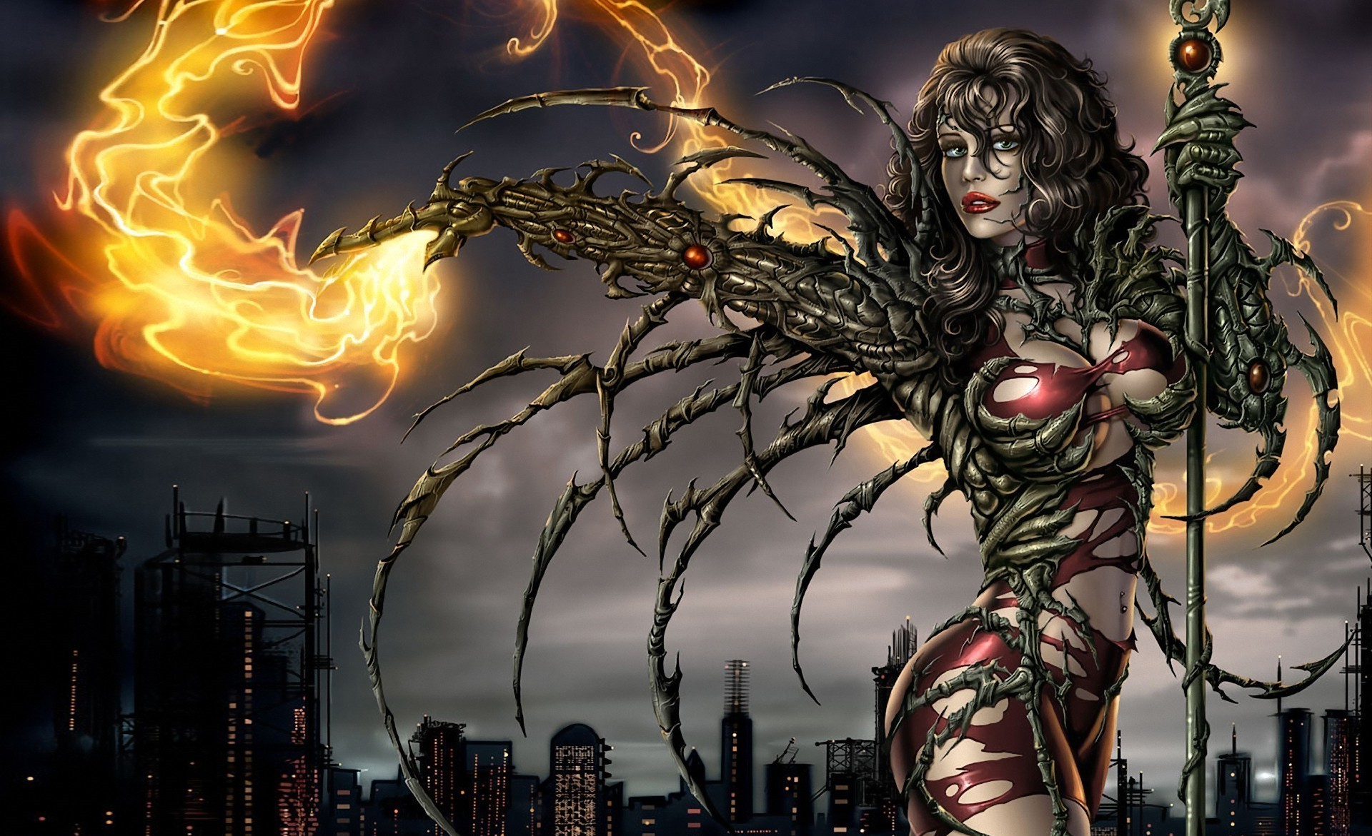 1920x1171 fantasy Art, Magic, Witchblade, Sara Pezzini, Comic Art, Comic Books  Wallpapers HD / Desktop and Mobile Backgrounds