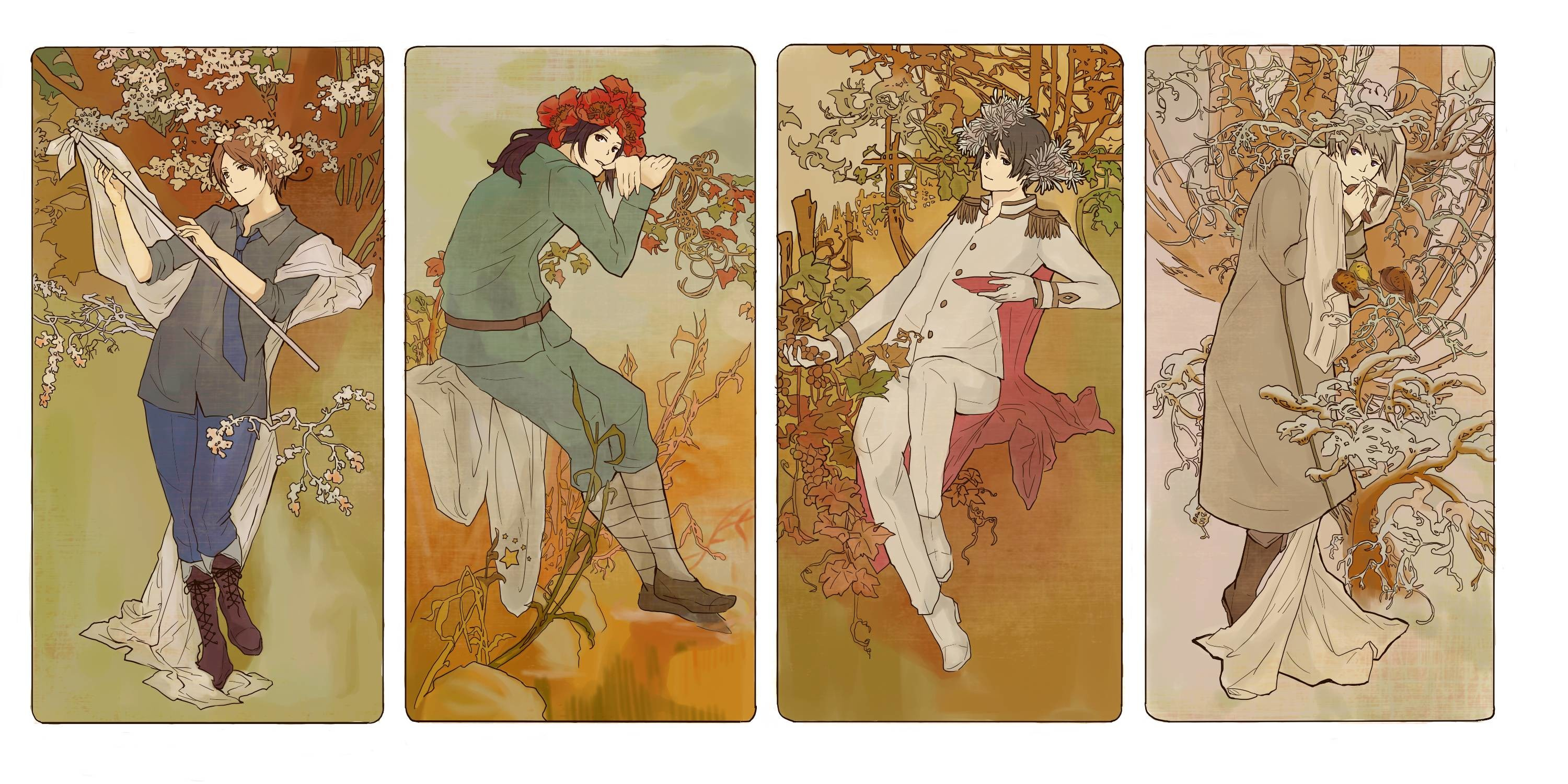 3000x1500 Art Nouveau, Hetalia, Axis Powers, Artwork, Wallpaper, Html, Art Work,  Wallpaper Desktop, Screen Wallpaper