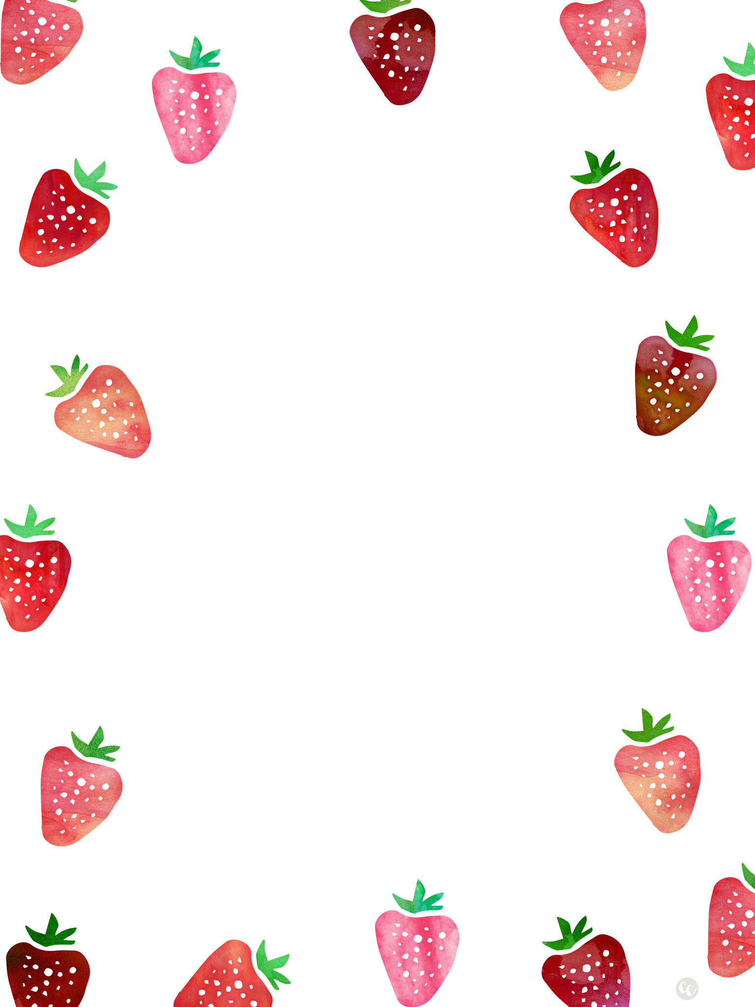 1536x2048 Strawberries Wallpapers