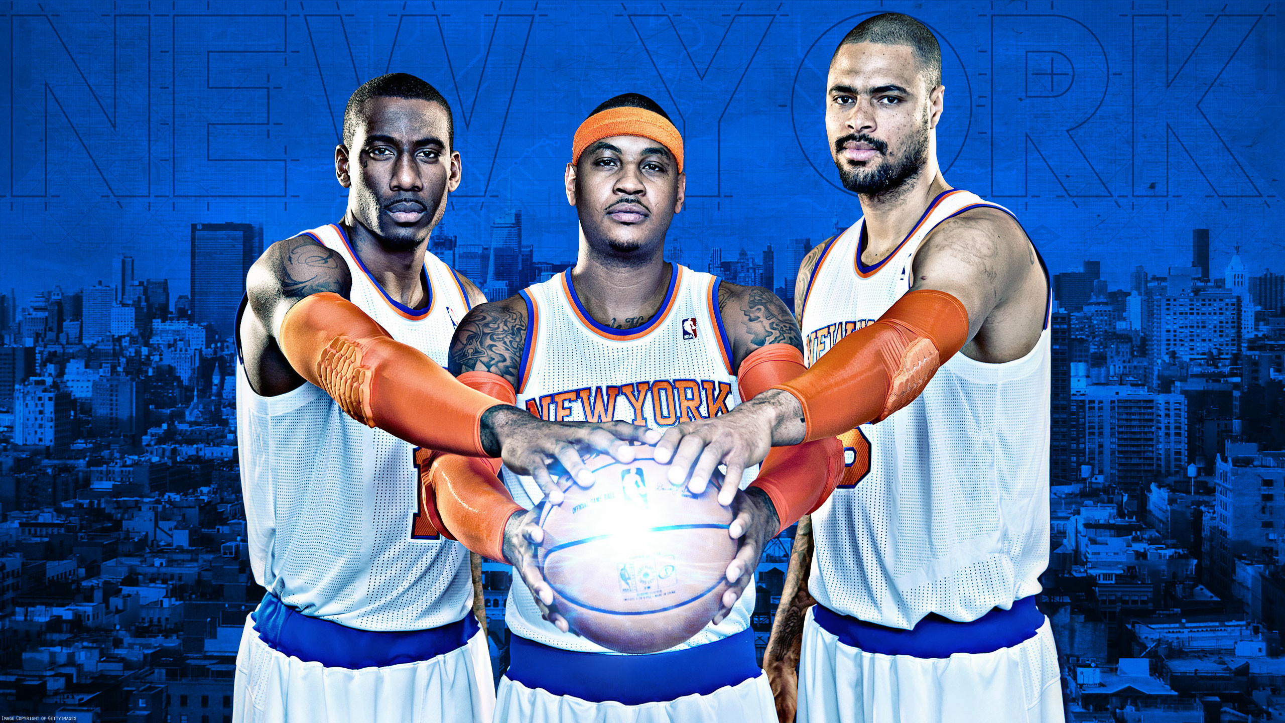 2560x1440 Knicks 2013 Big 3 2560×1440 Wallpaper