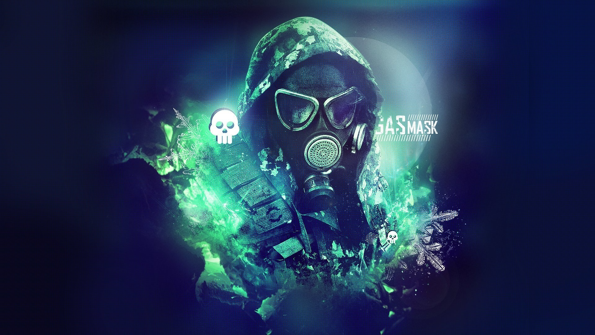 1920x1080 Man with gas mask Wallpaper #41886