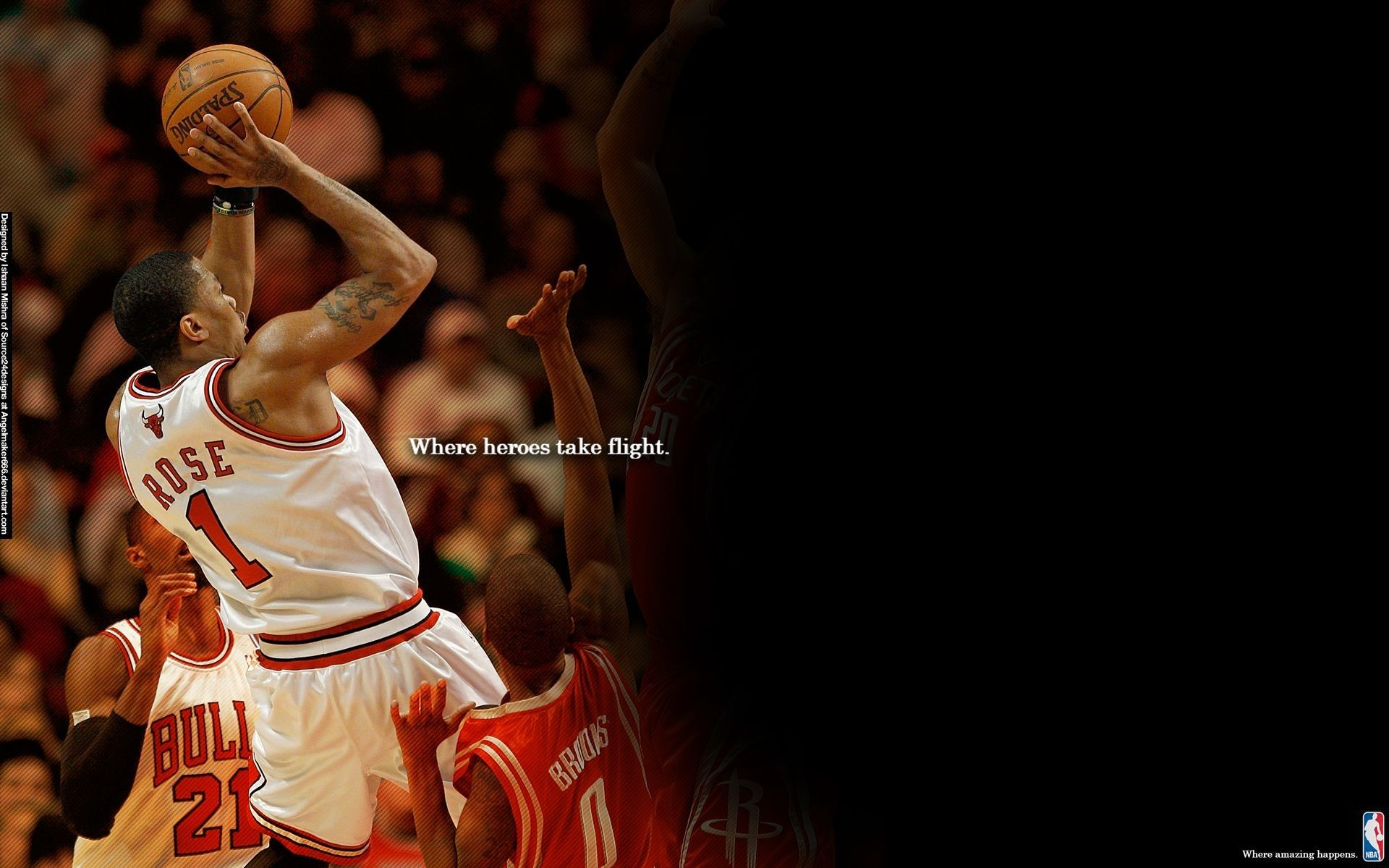 1920x1080 Derrick Rose Logo Wallpapers
