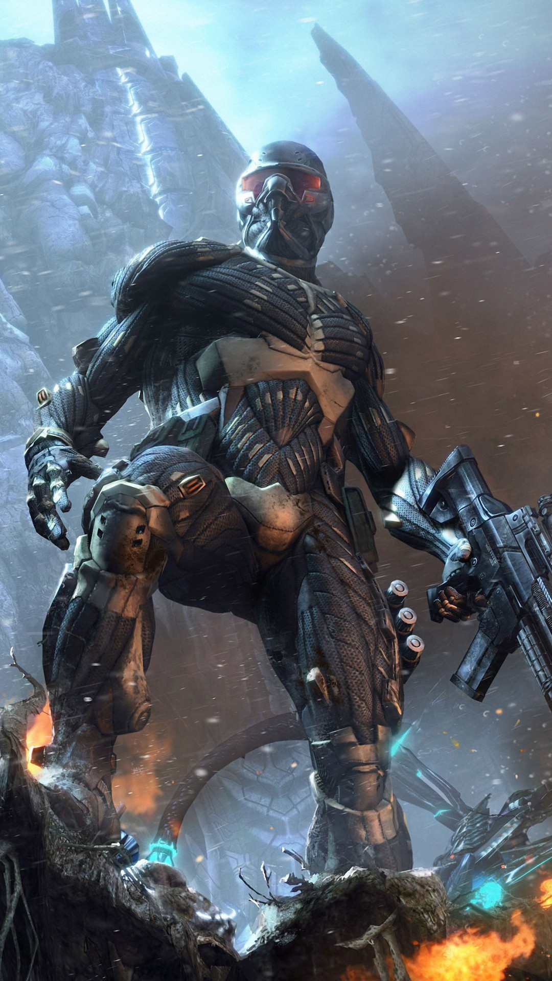 1080x1920 crysis worrior game iphone 6 wallpapers HD