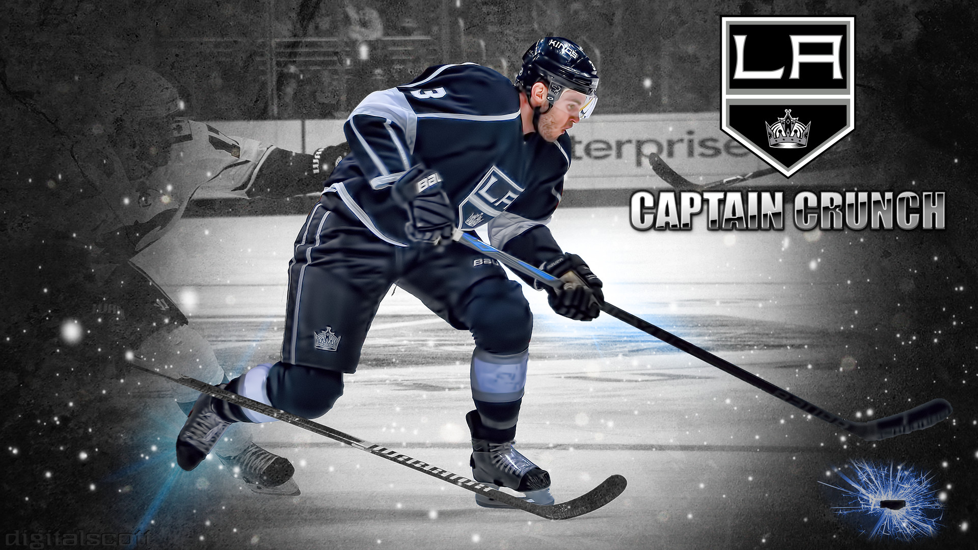 1920x1080 Dustin Brown Los Angeles Kings Wallpaper Captain Crunch
