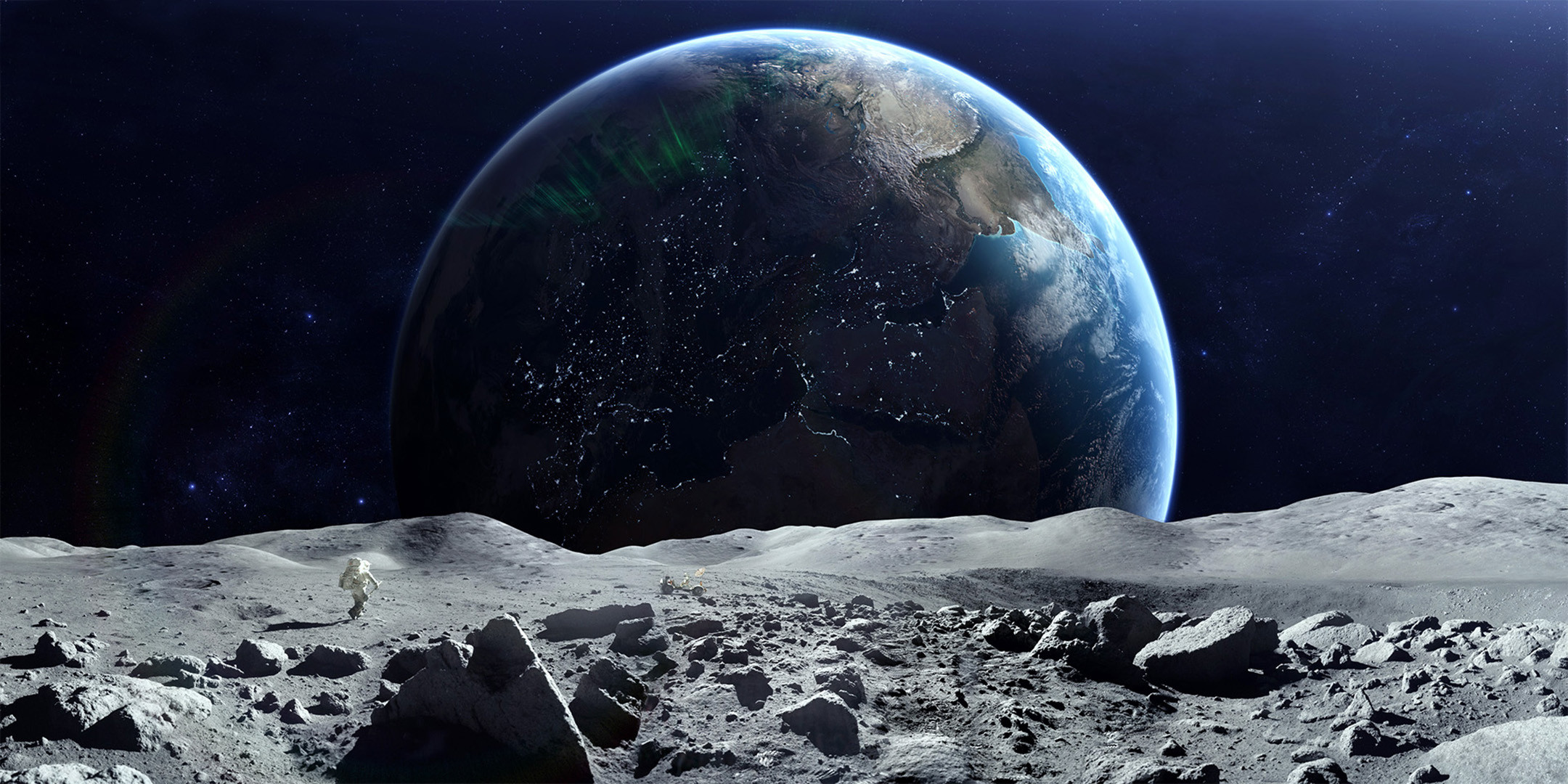 Astronaut on the moon wallpaper 65 images - Space moon wallpaper ...