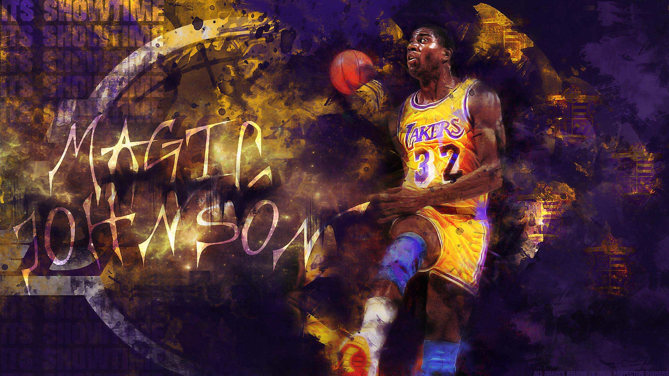 2560x1439 Sport Magic Johnson Basketball Player Free Screensaver Wallpaper 2560×1439