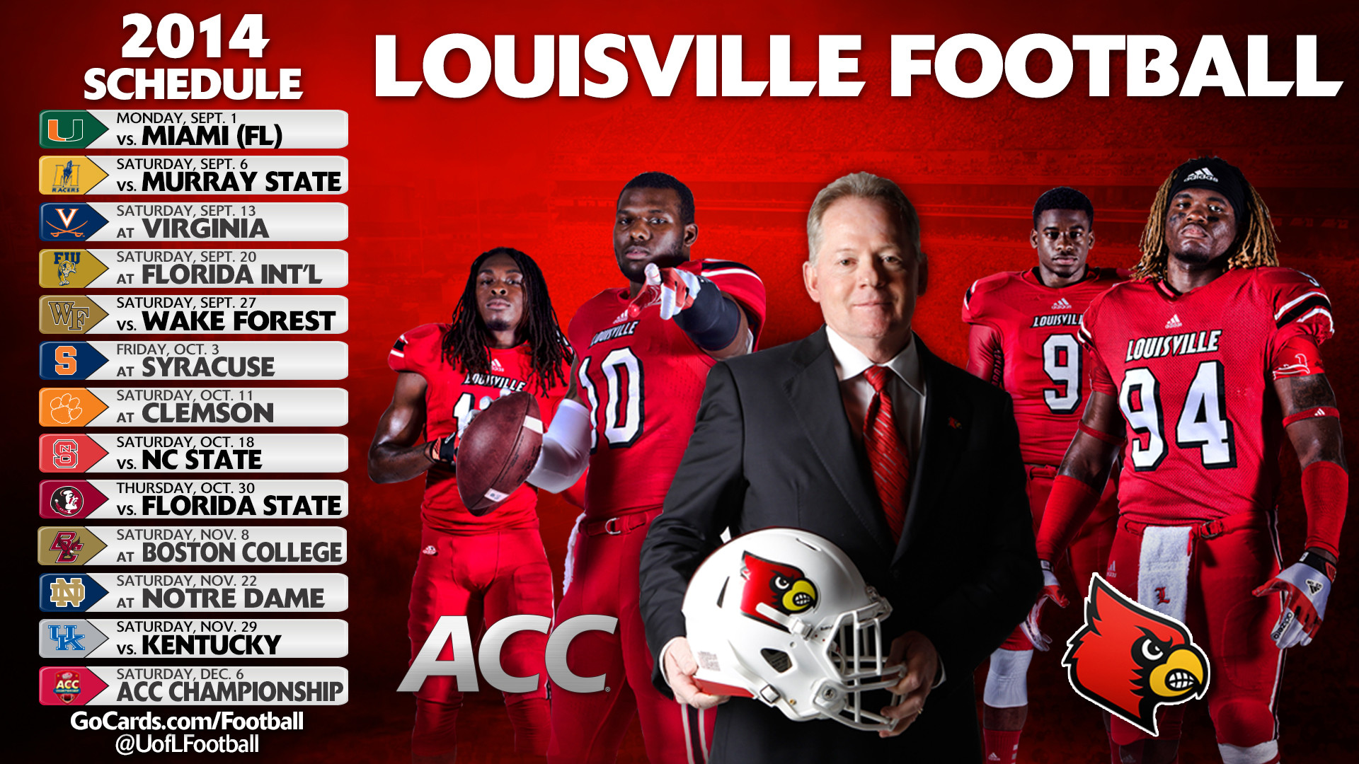 1920x1080 uofl football logo wallpaper - photo #5