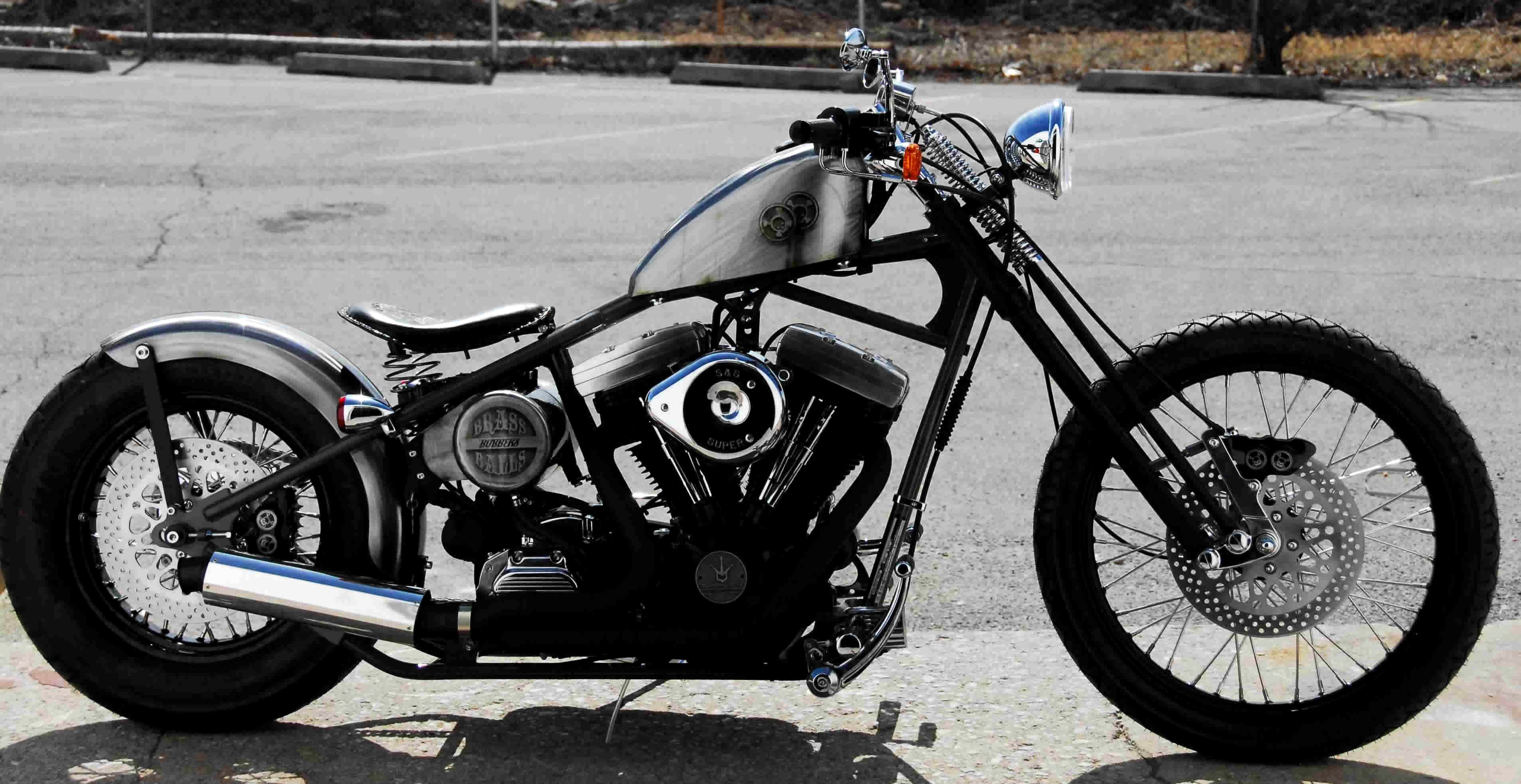 3814x1967 Bobber Motorcycle high definition wallpapers