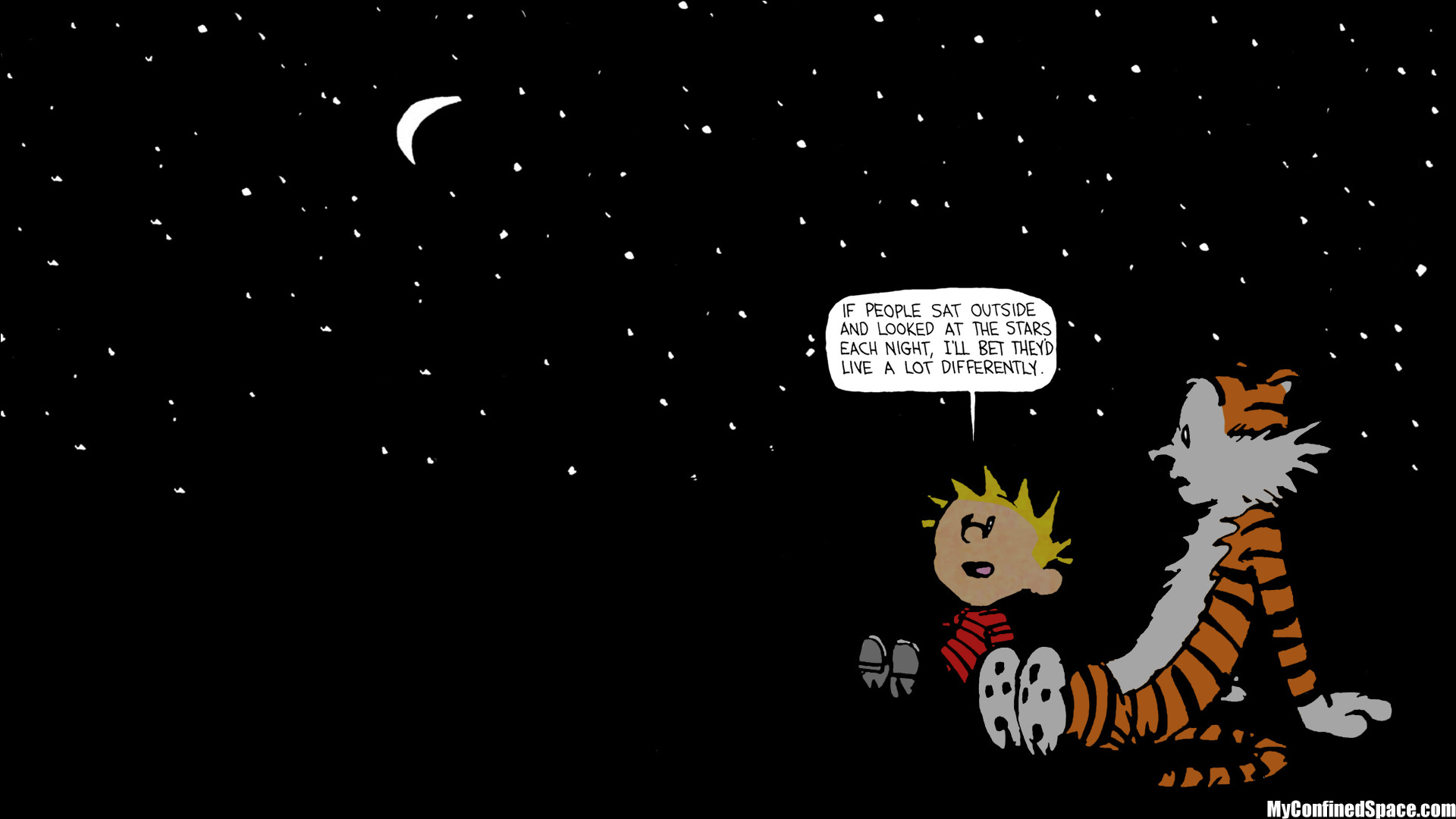1920x1080 calvin hobbes stars quote - Google Search