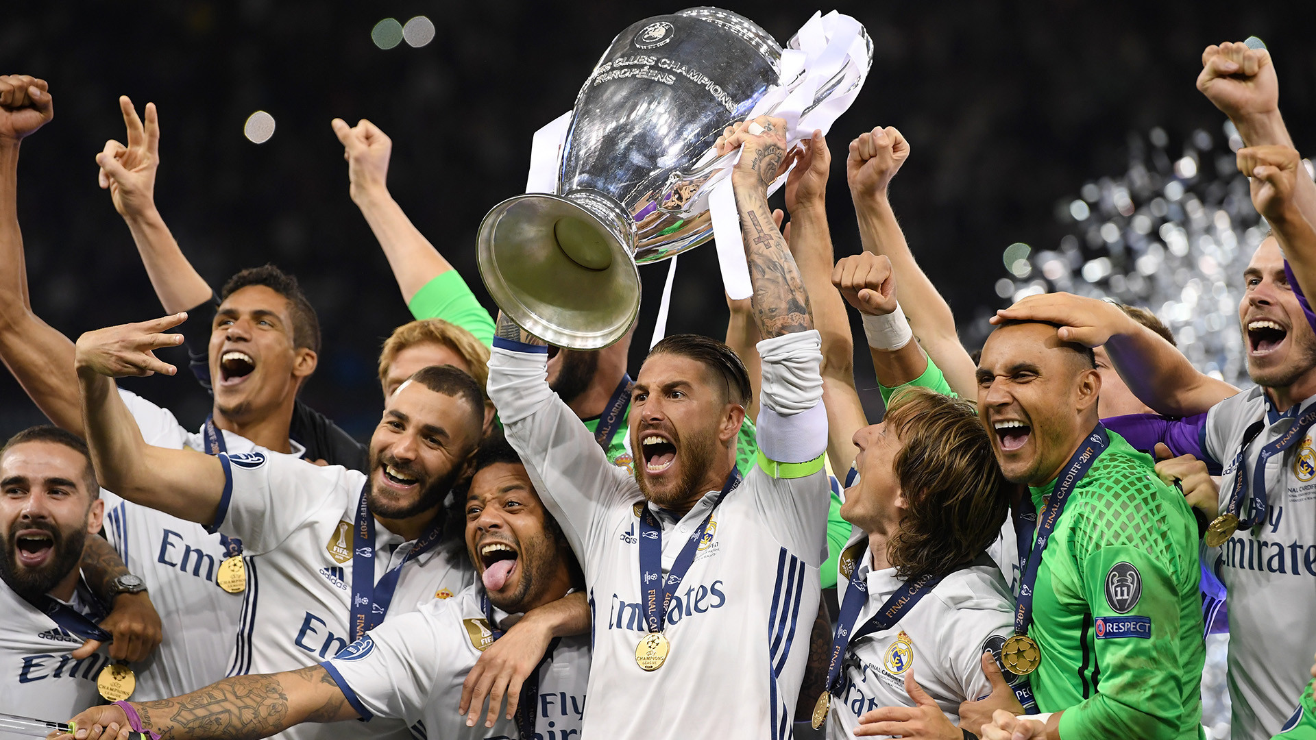 1920x1080  Real Madrid celebrating Champions League