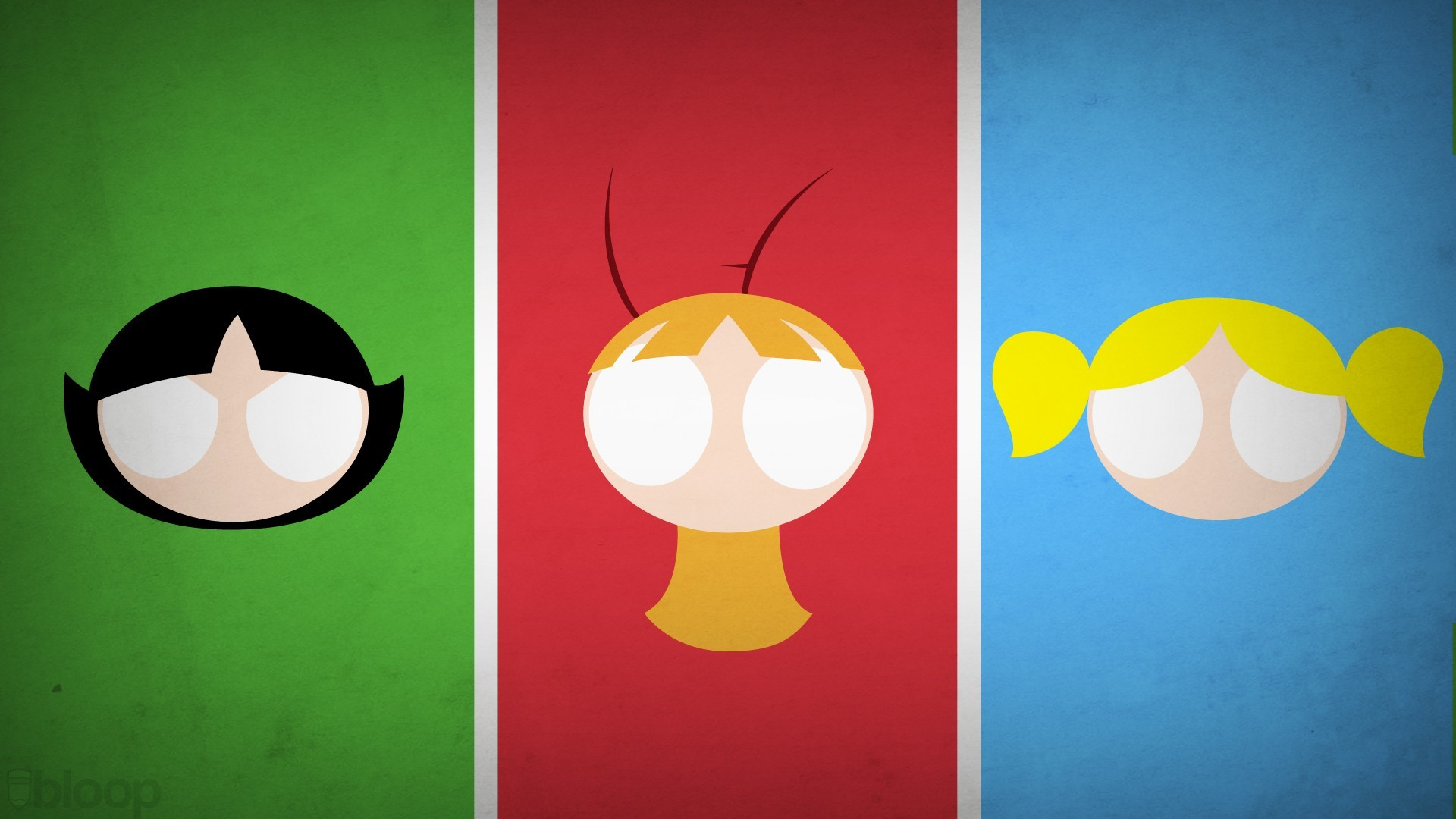 1920x1080 Bloop's New Superhero Wallpapers over at DeviantArt offer a minimalist take  on numerous superheroes and villains. I'm partial to the Power Puff Girls  ...