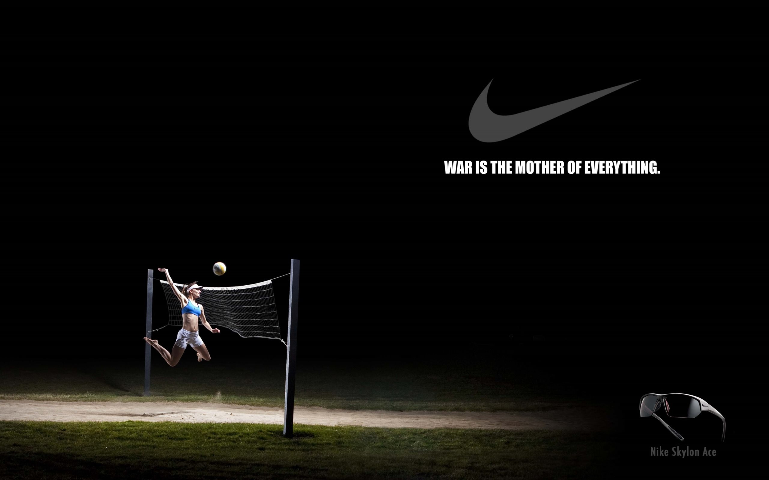 2560x1600 4K HD Wallpaper: Nike Creative Volleyball Poster