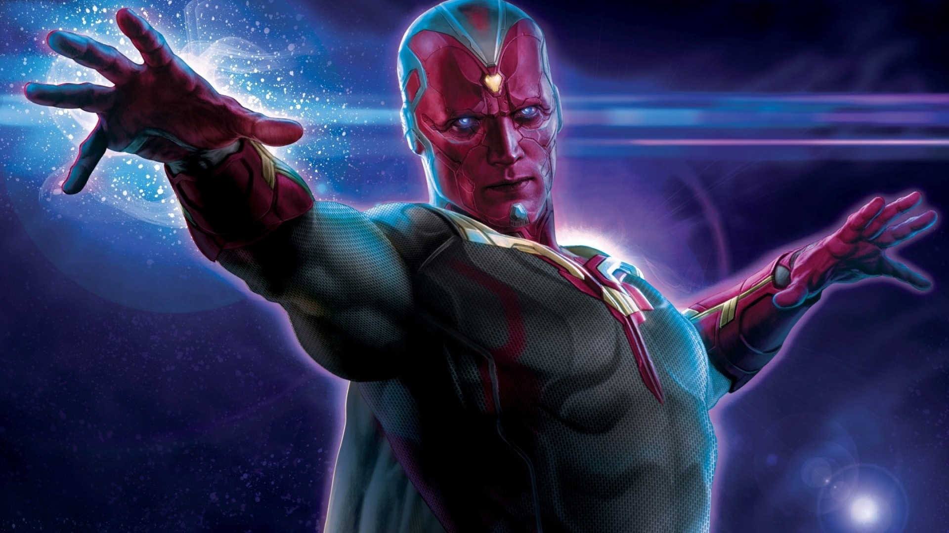 1920x1080 Preview wallpaper avengers, age of ultron, paul bettany, vision