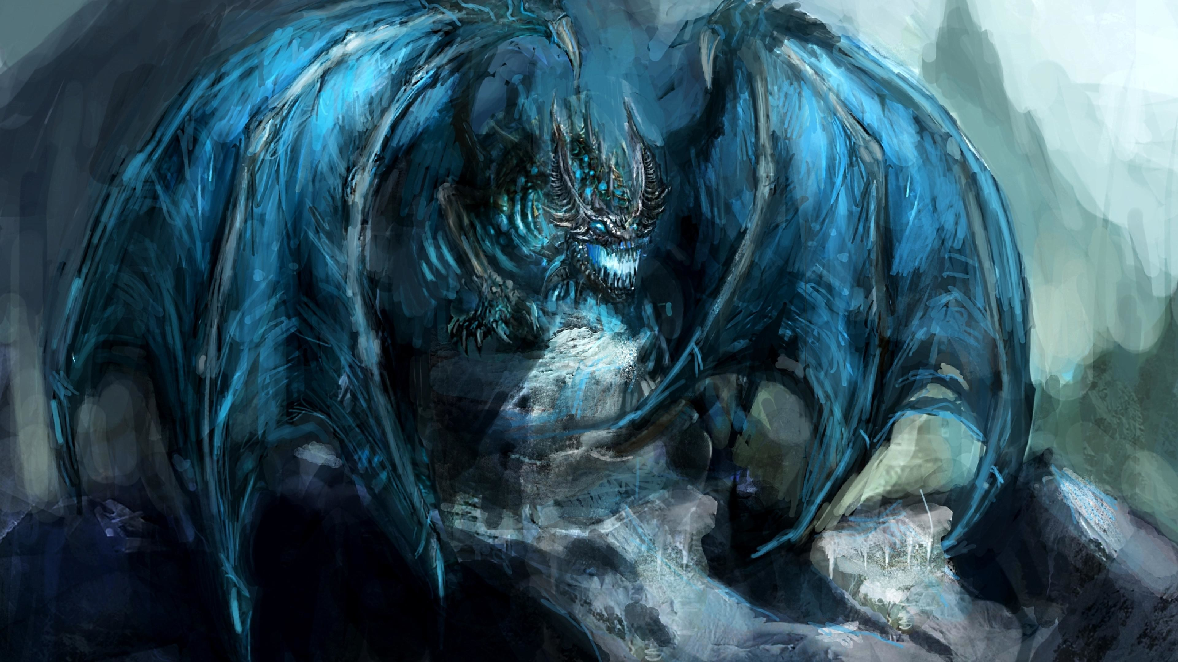 3840x2160 wallpaper.wiki-Ice-Dragon-Wallpaper-PIC-WPE003620