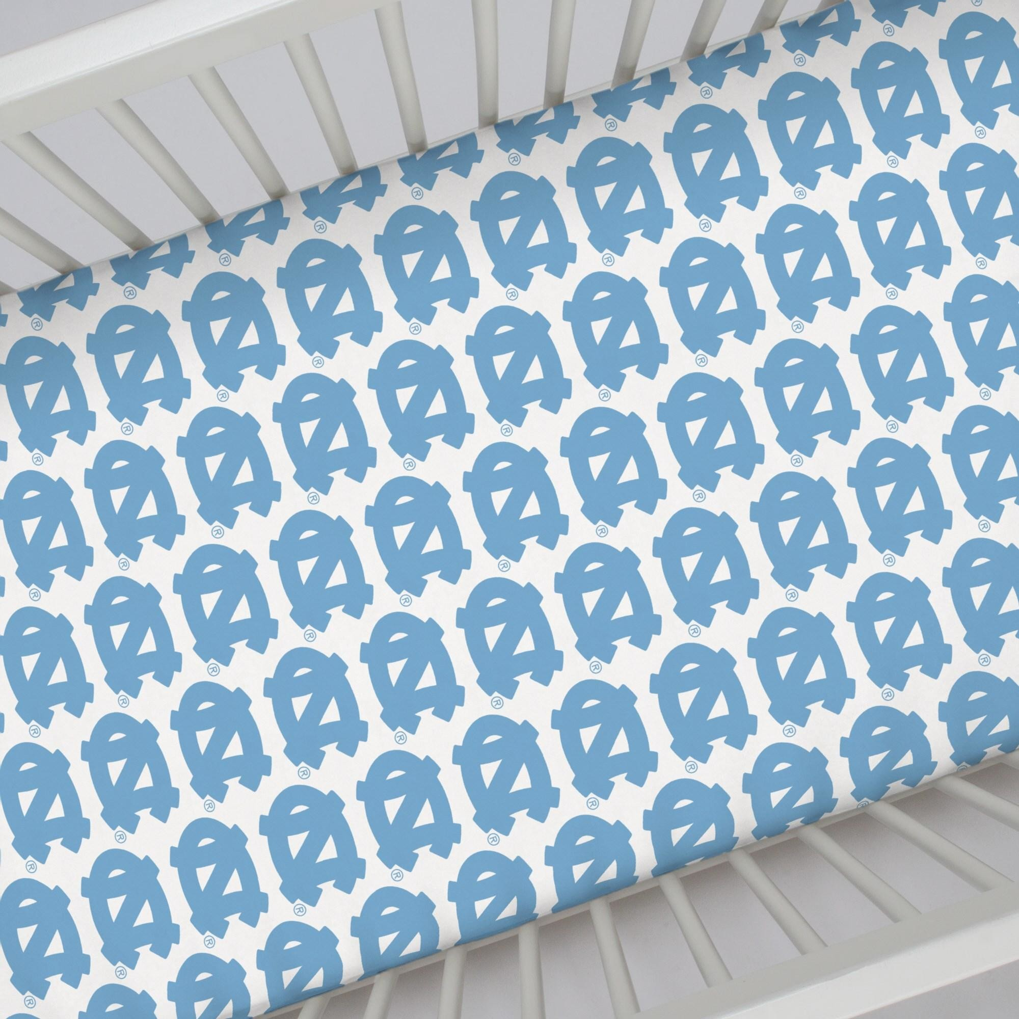 2000x2000 Tar Heels Baby Bedding Queen