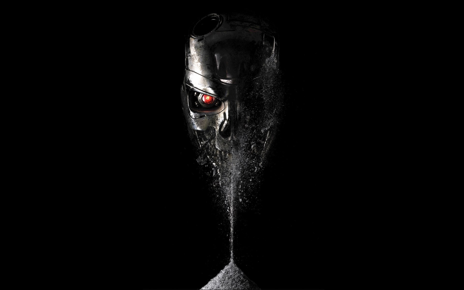 1920x1200 terminator : genesis terminator: genisys black background skull eye red  terminator fray ashes fiction