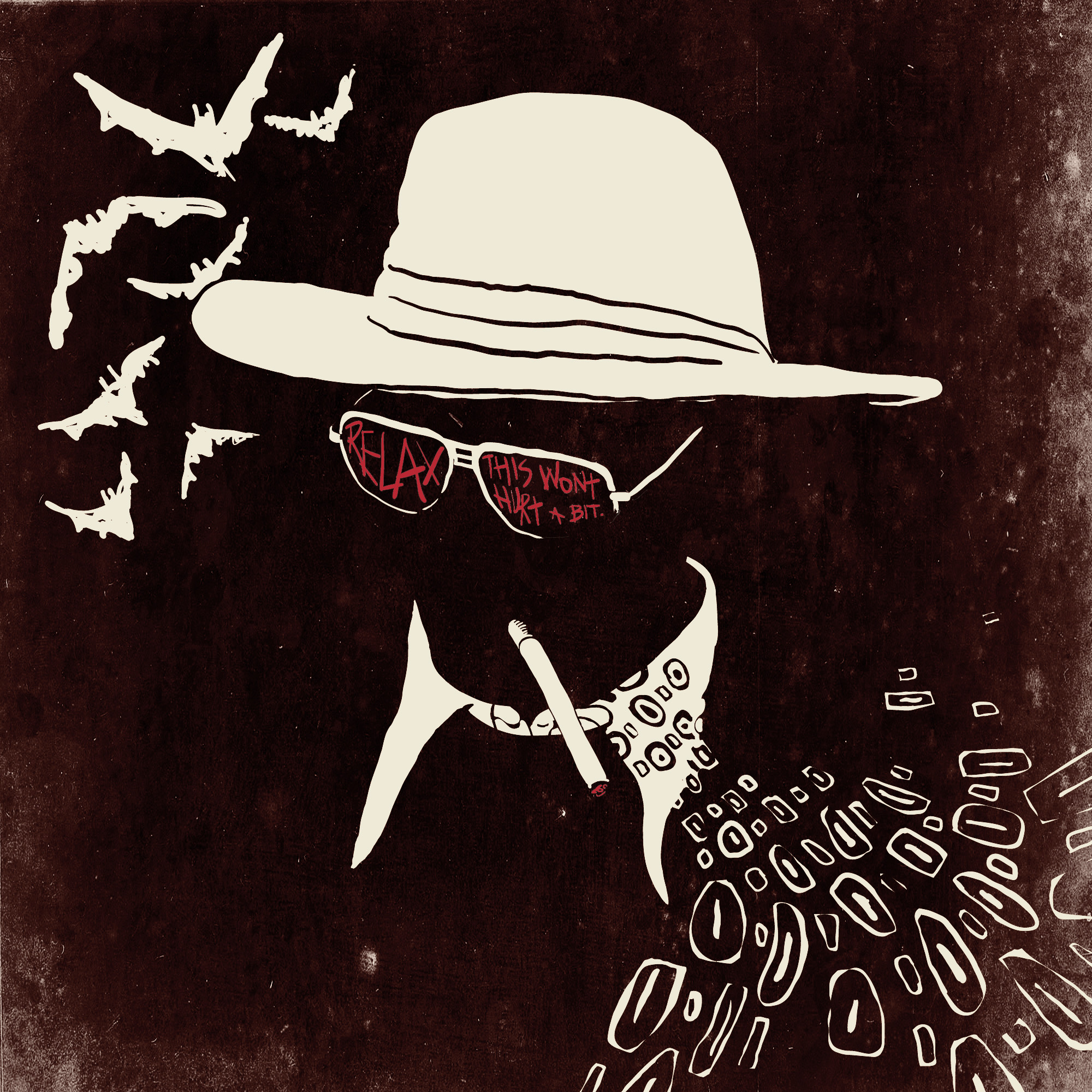 2000x2000 Fear and Loathing Illustrator, Ralph Steadman Psychedelic Art Gallery