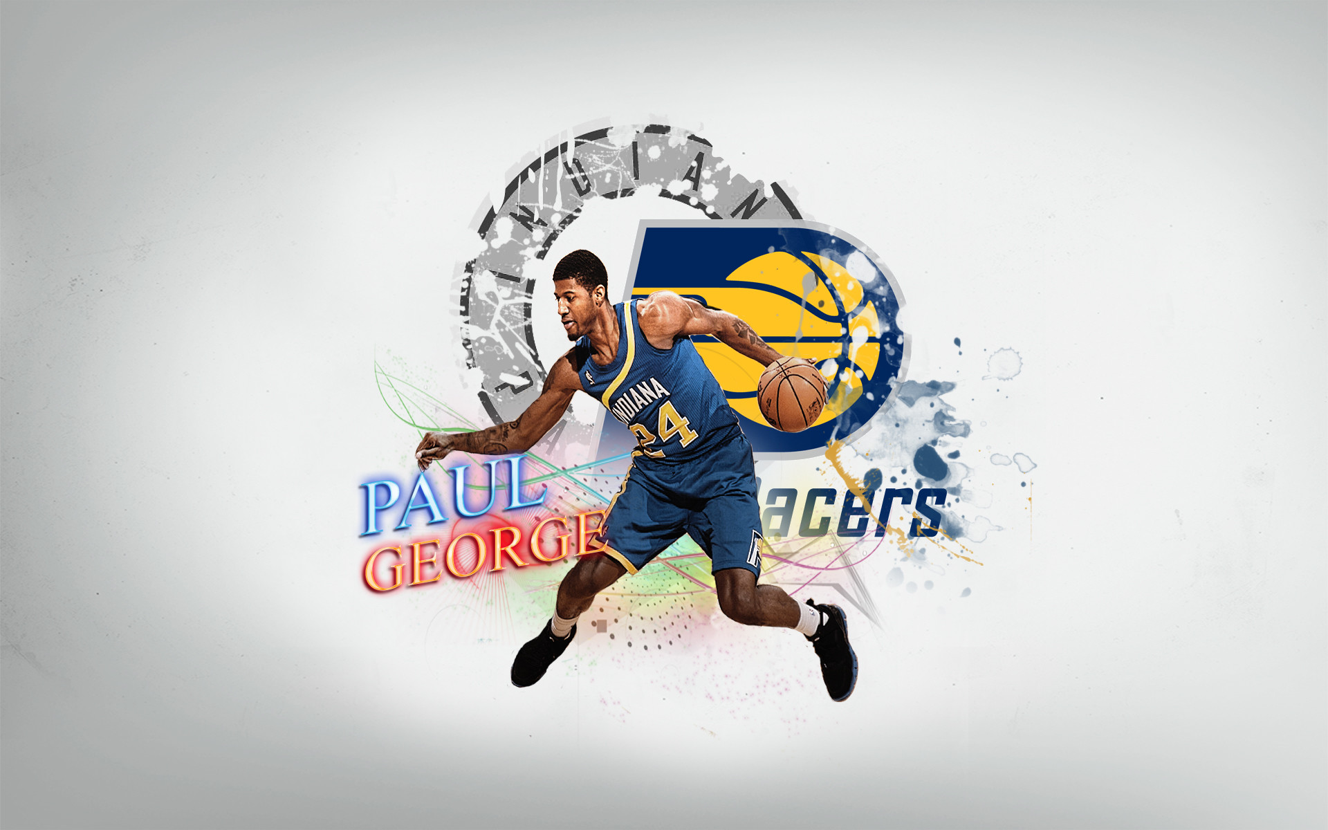 1920x1200 Paul George Indiana Pacers by 31ANDONLY