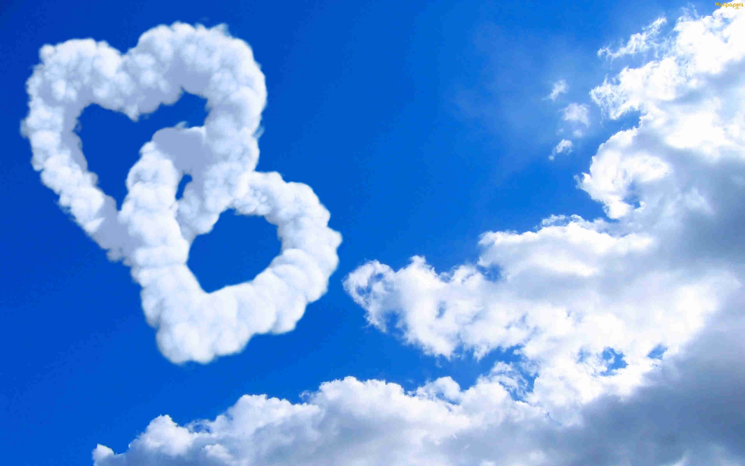 2560x1600 Cloud Of Love Background Wallpaper