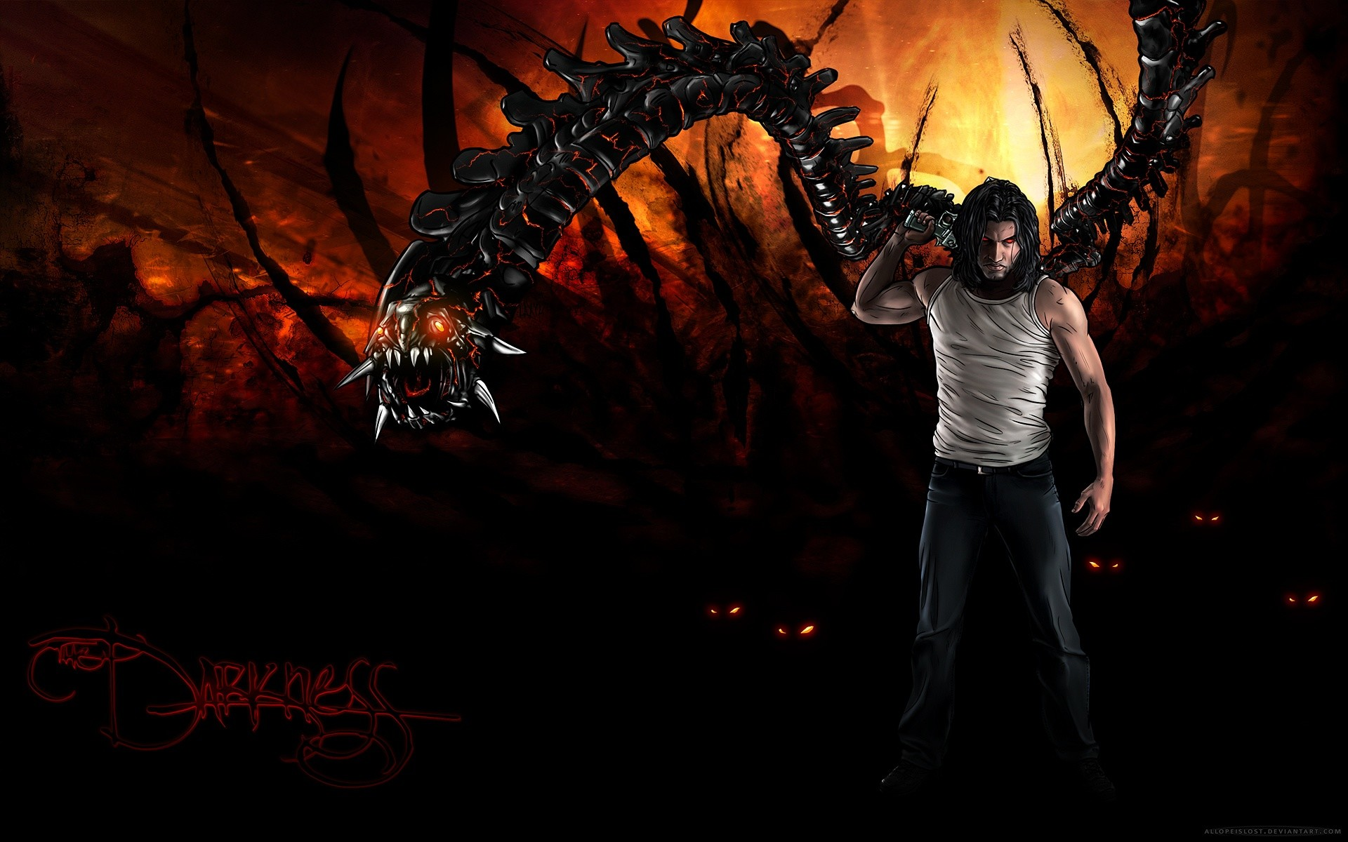 1920x1200 The Darkness II 2012 Game Wallpapers