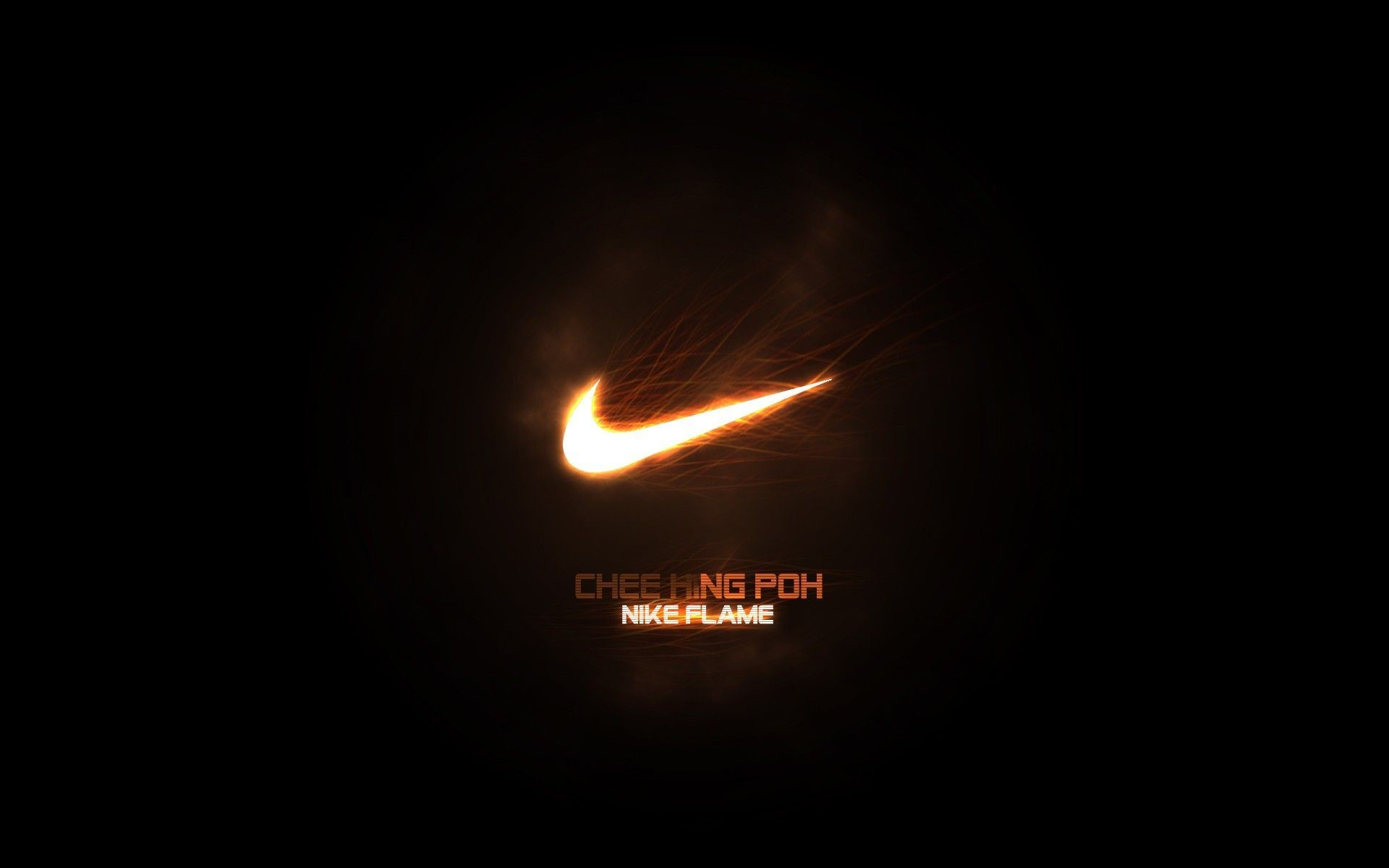 1920x1200 black fire nike logos background #b_pO