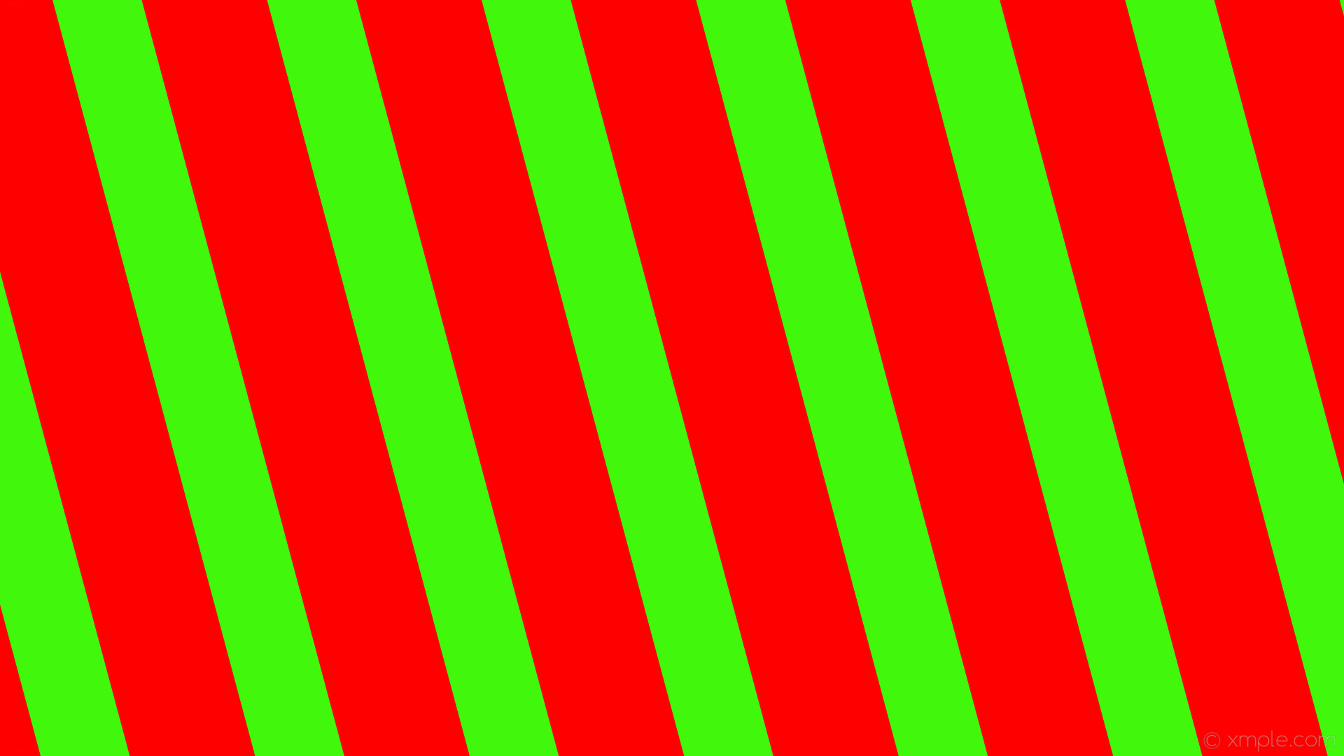 red from green