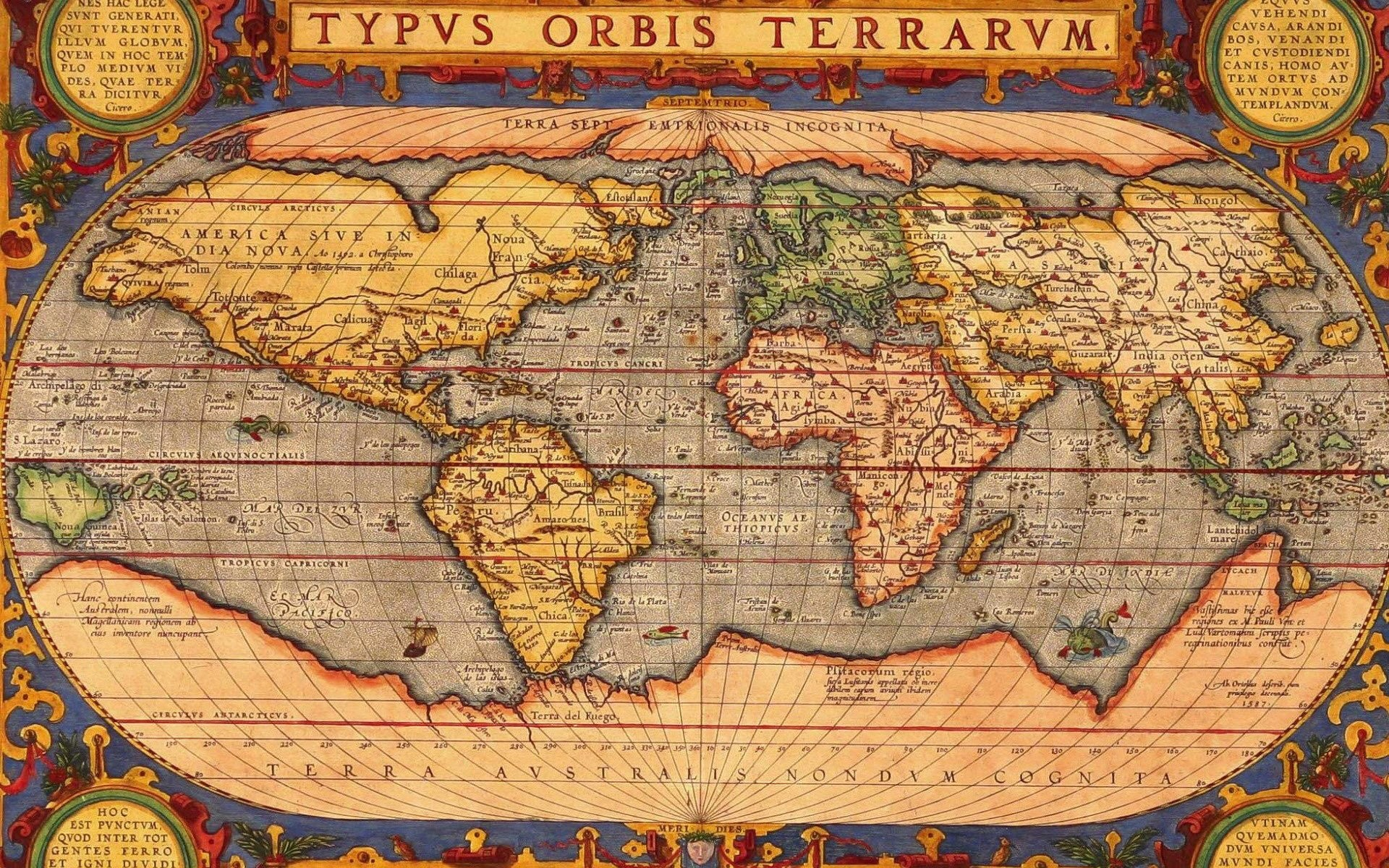 1920x1200 Vintage World Map 823702 ...