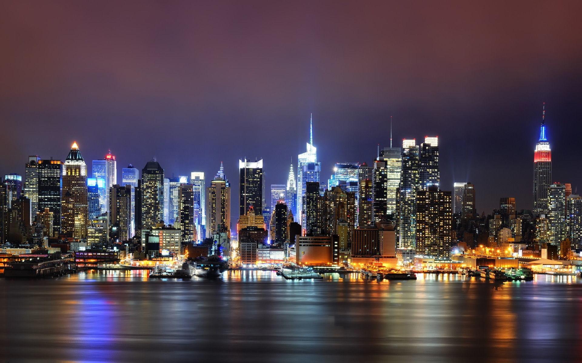 2560x1600 Bokeh Lights City Night Wallpaper