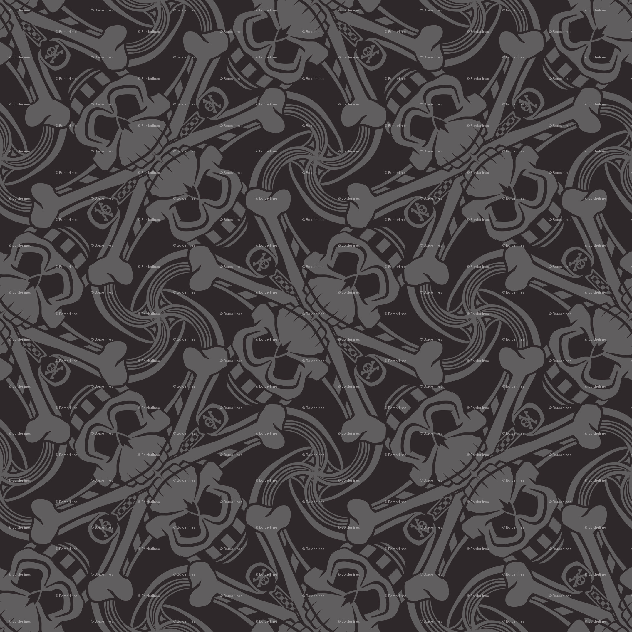 Res: 2151x2151, ☆ PIRATE SKULL PLAID ☆ Black and Gray - Small Scale / Collection : Funky  Pirates - Skull and Crossbones Prints 2 wallpaper - borderlines -  Spoonflower
