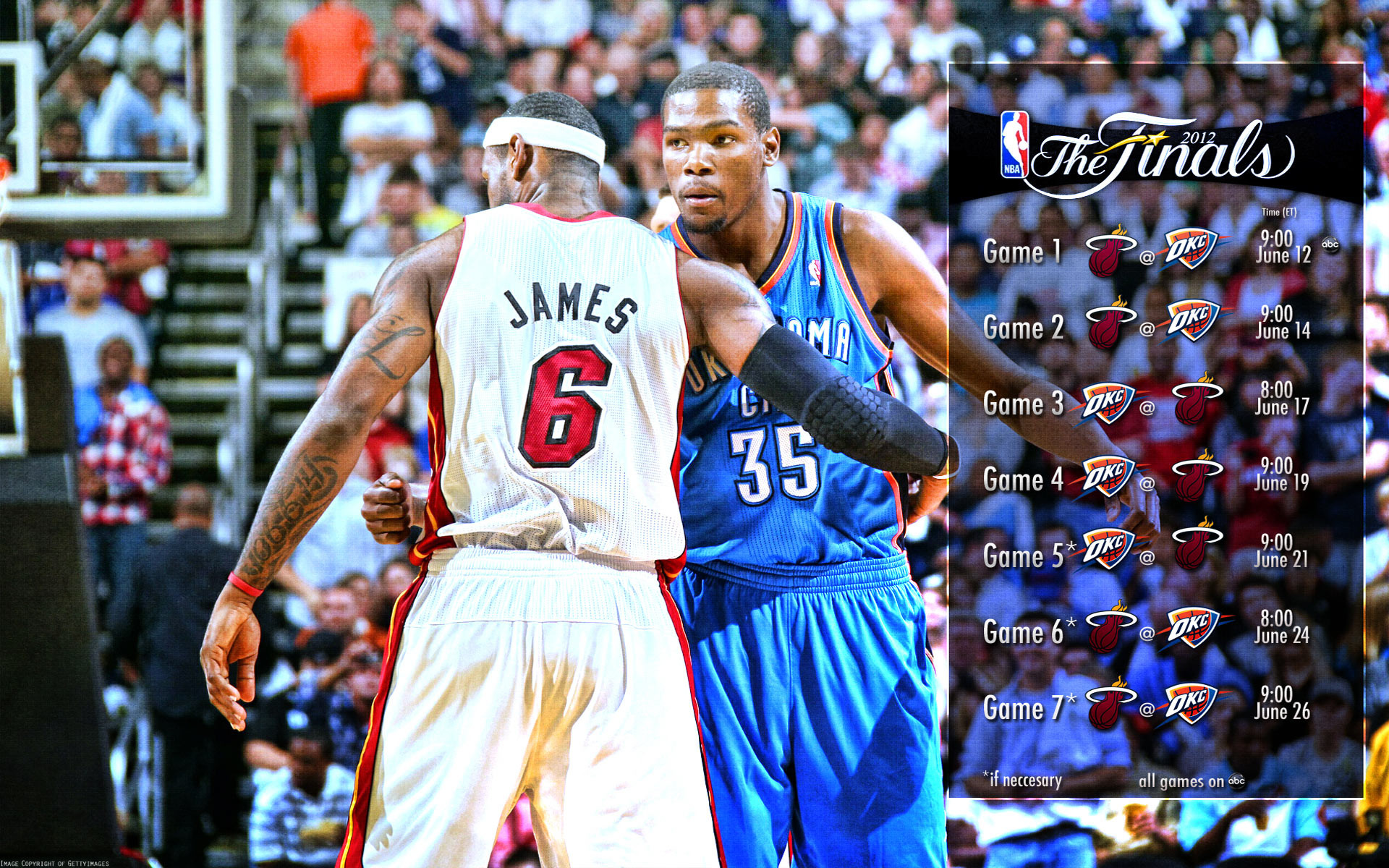 1920x1200 2012 NBA Finals Schedule 1920×1200 Wallpaper