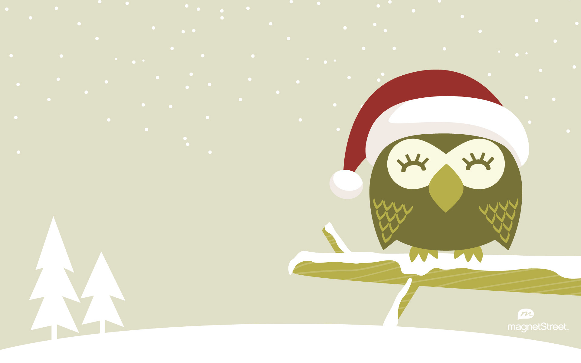 1920x1200 Freebie Friday Christmas Owl WallpaperTruly Engaging Wedding Blog