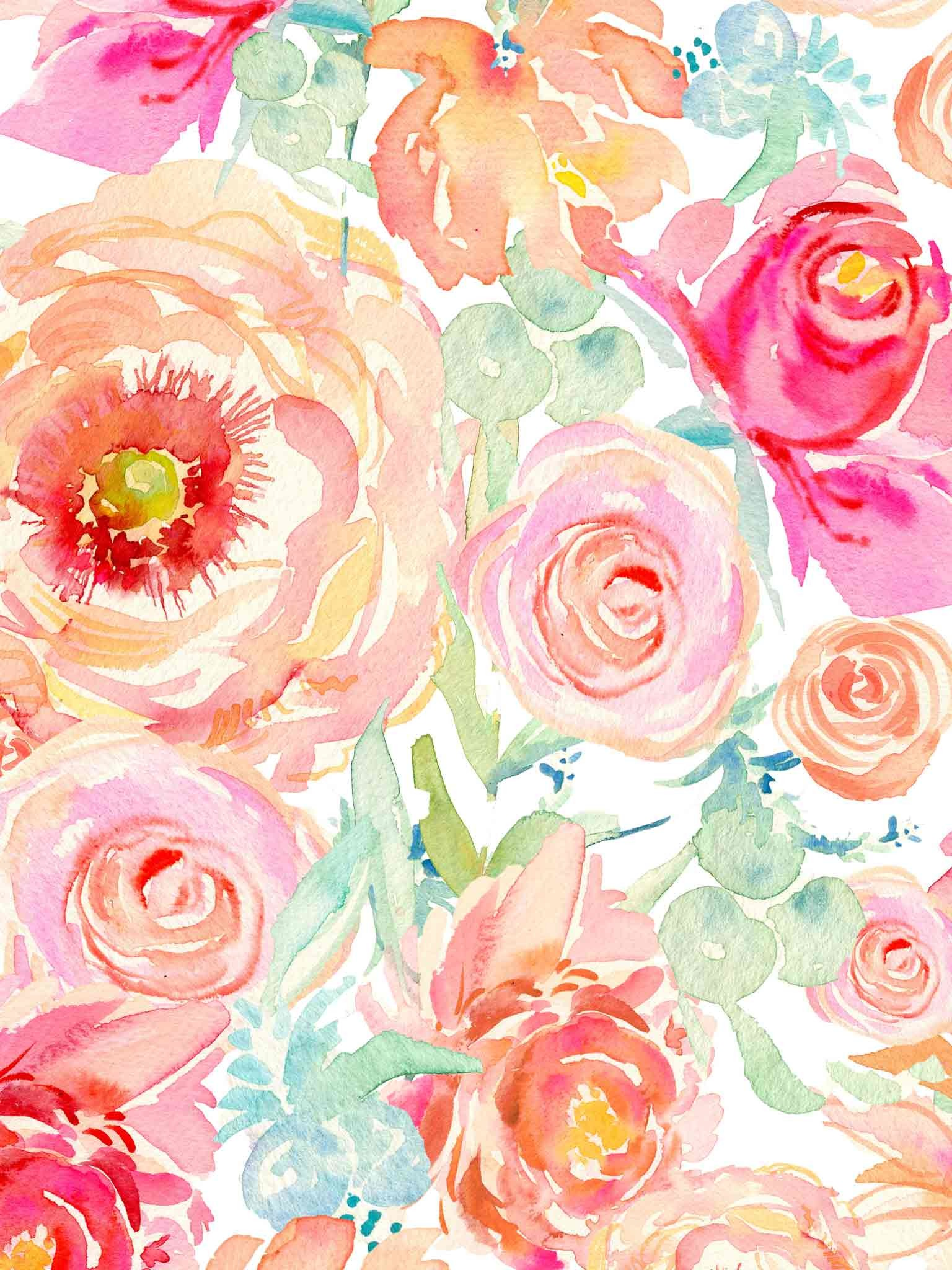 "1536x2048 Search Results for ""watercolor peony wallpaper"" – Adorable Wallpapers"