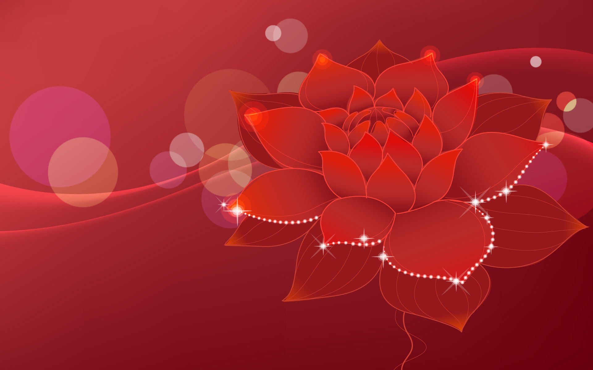 1920x1200 Red Flowers Background