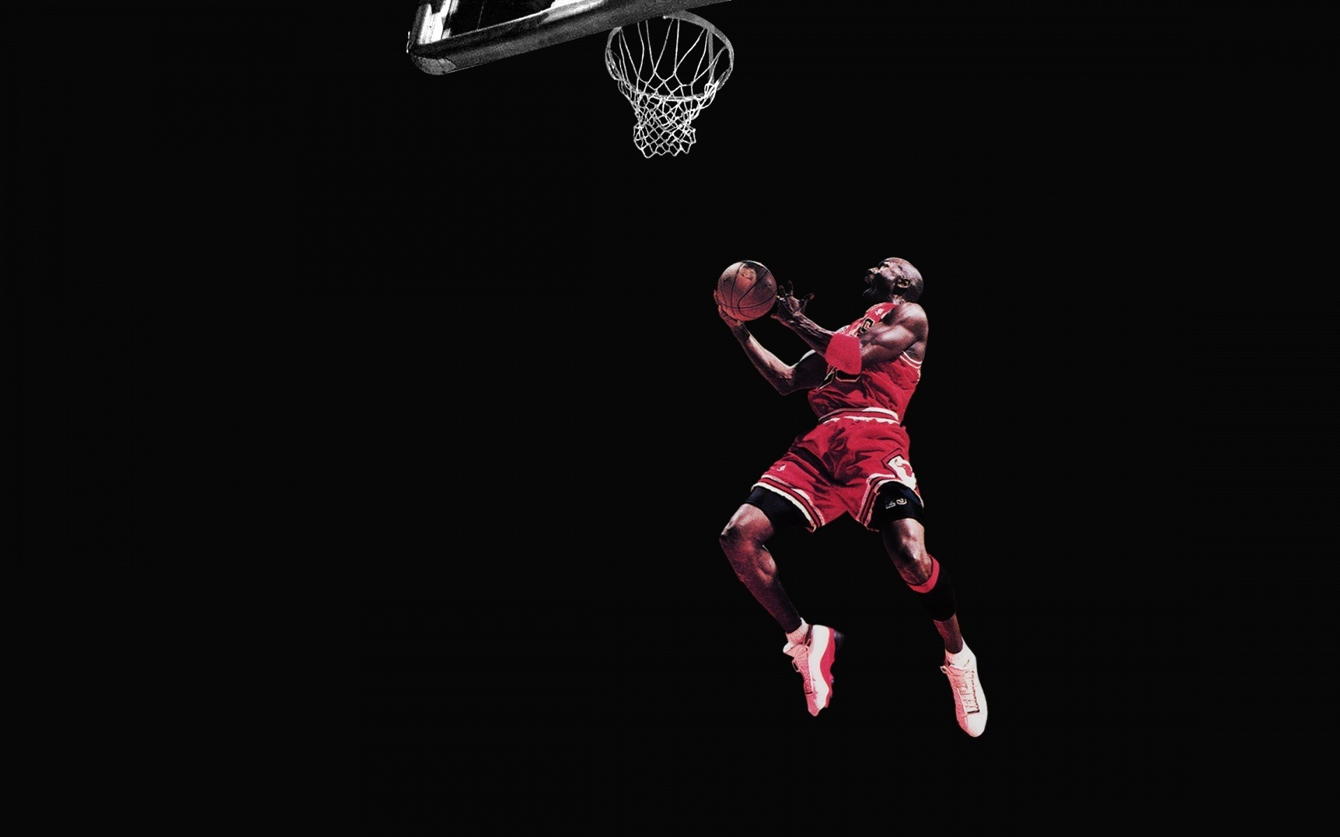 1920x1200 Michael Jordan Chicago Bulls Basketball Jump Black wallpaper .