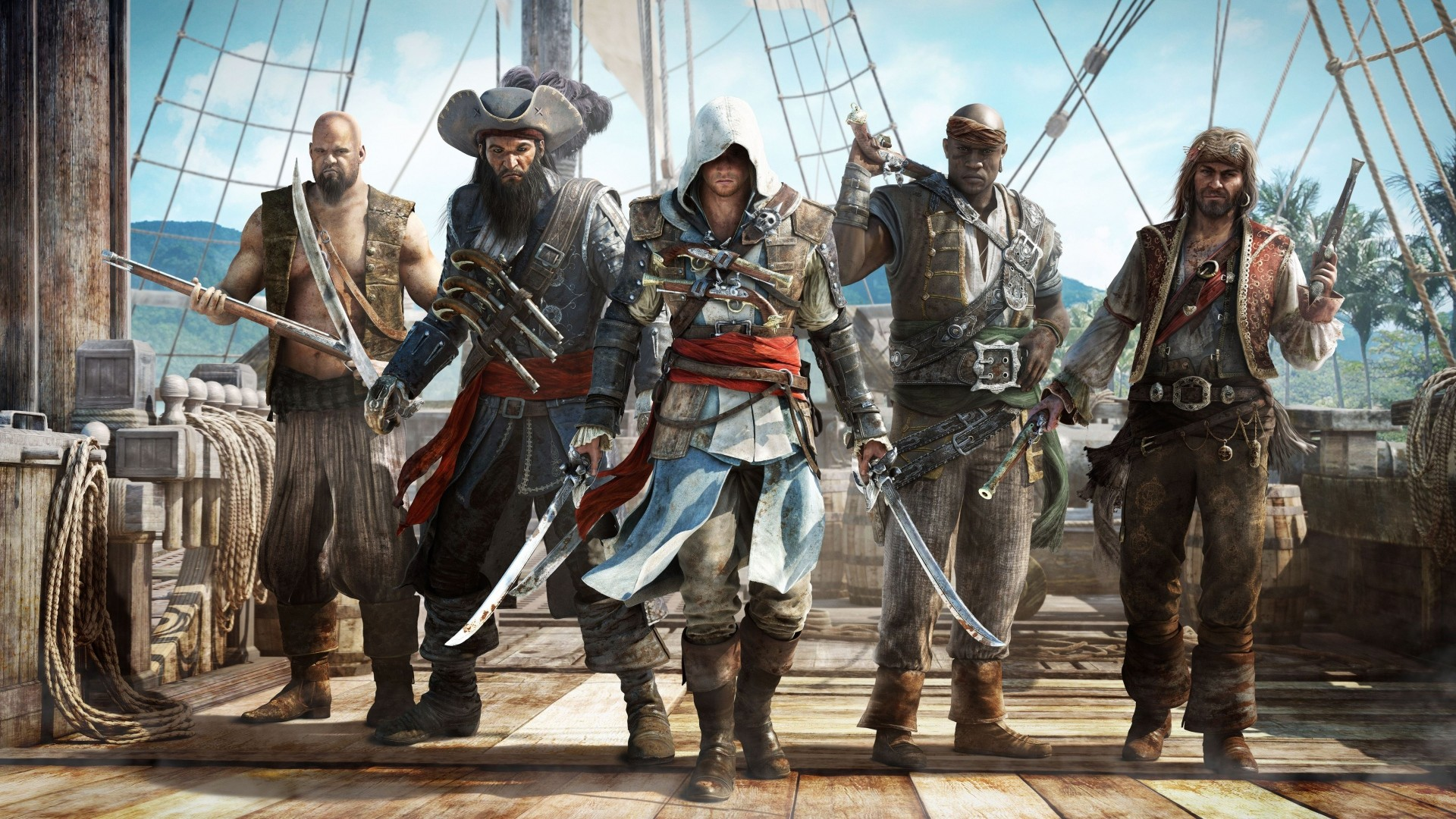 1920x1080 Preview wallpaper assassins creed, black flag, pirates