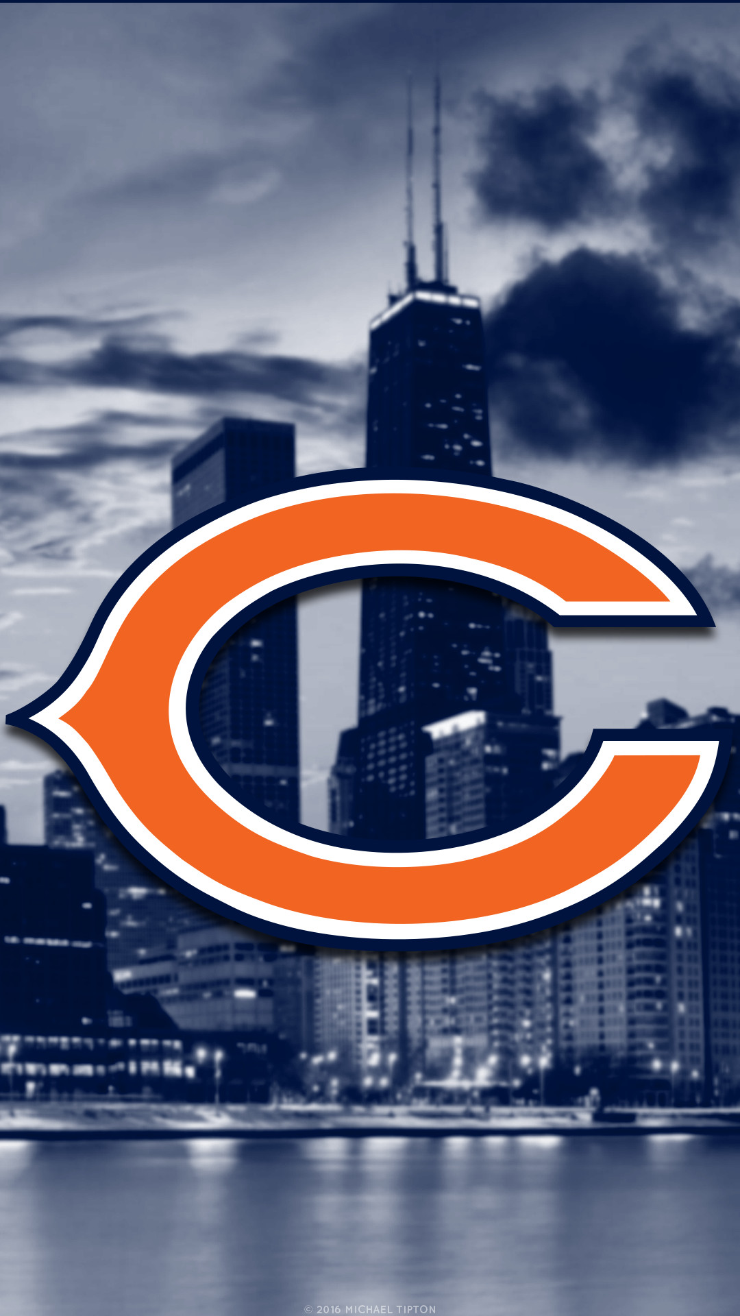 1080x1920 chicago bears iphone wallpaper