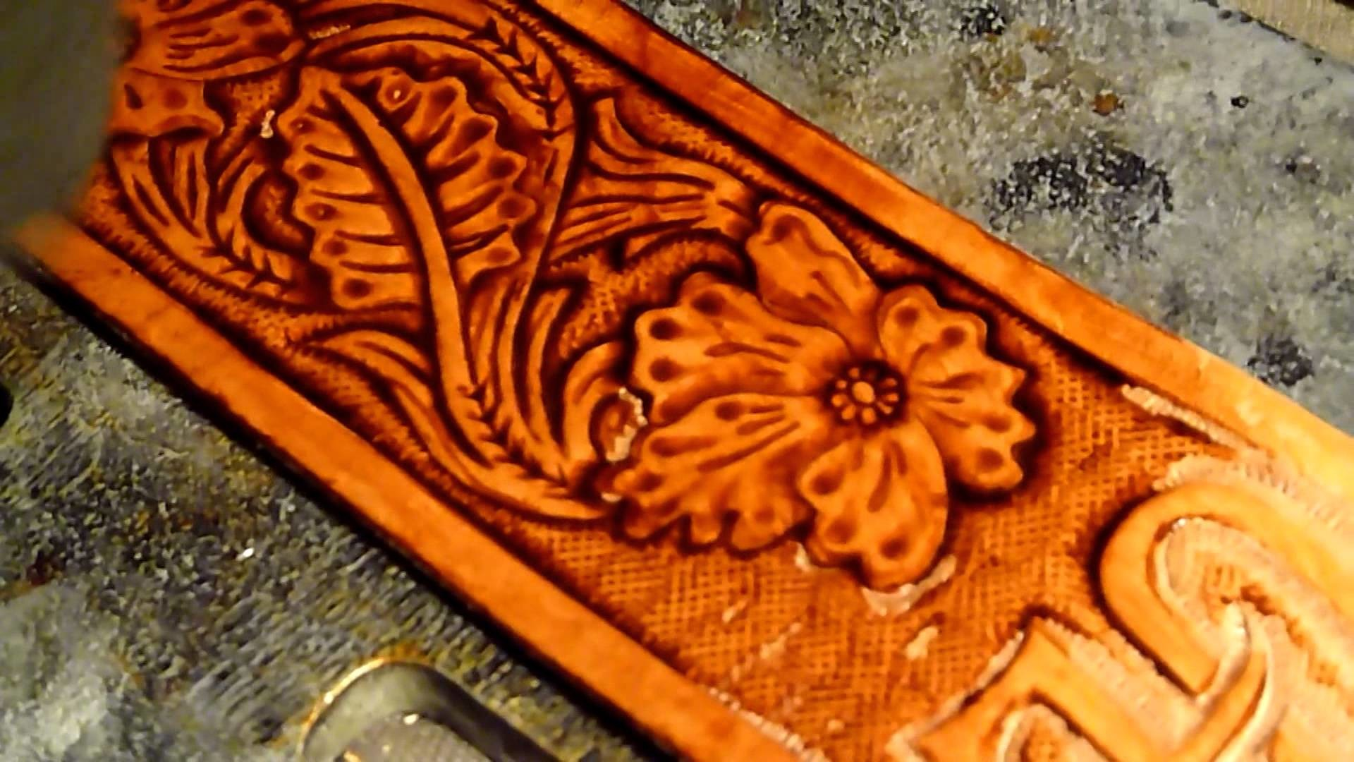 1920x1080 Hand Tooled Western Leather Strap