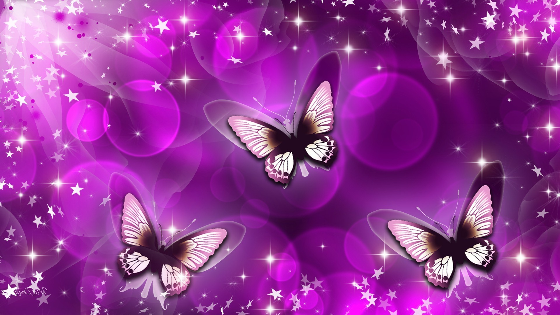 Animated butterfly background