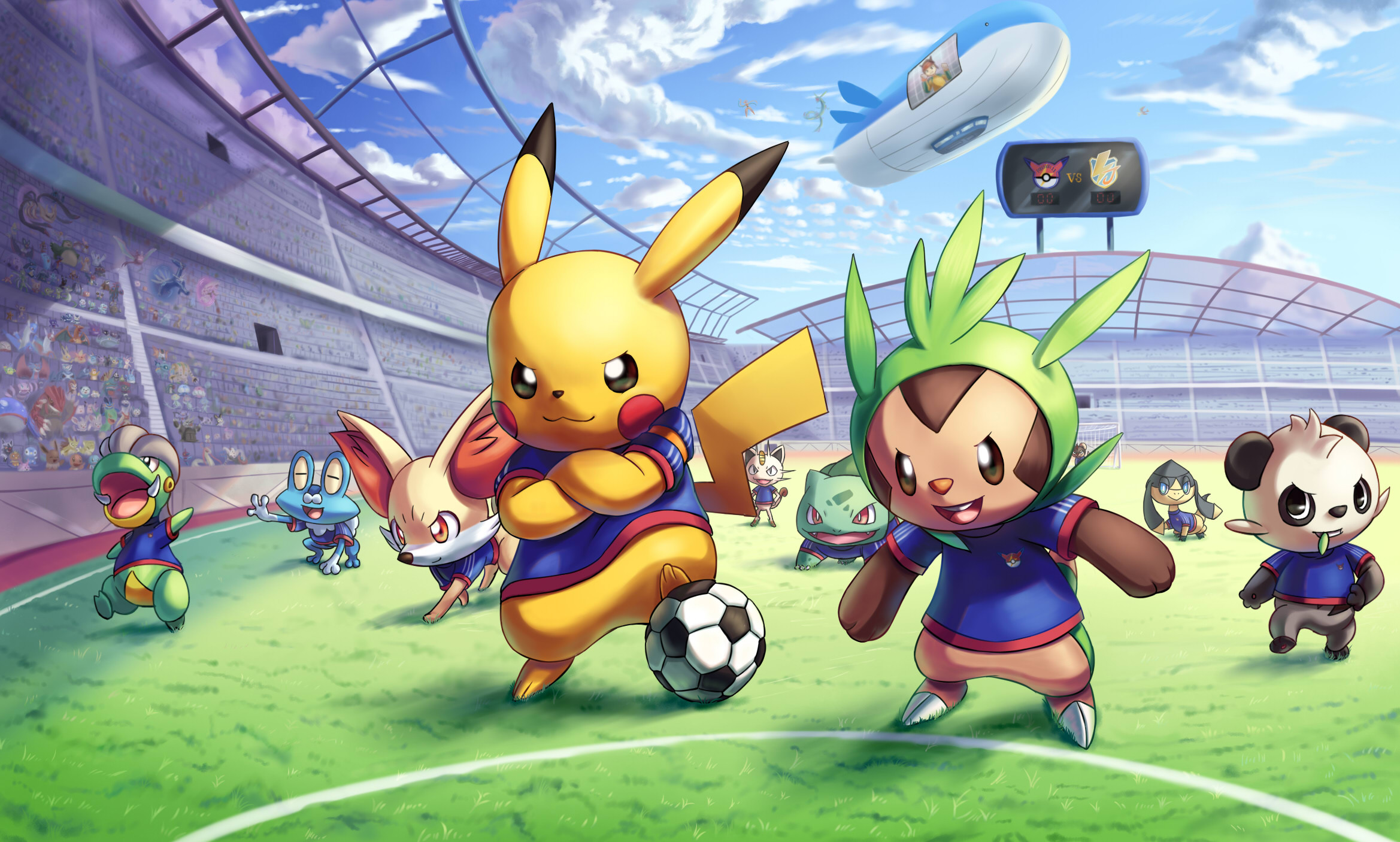 2338x1406 pokemon playing football backgrounds desktop wallpapers high definition  monitor download free amazing background photos artwork 2338×1406 Wallpaper  HD
