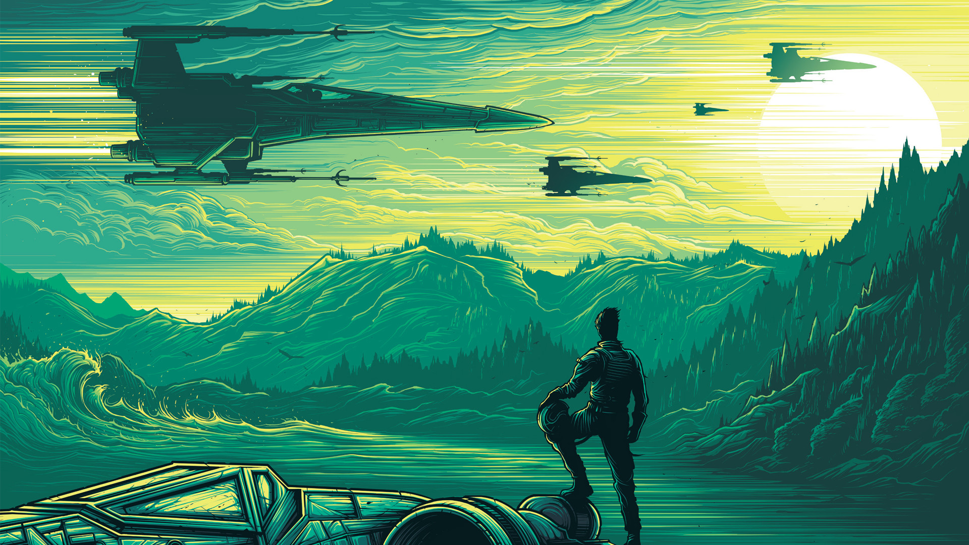 1920x1080 General  Star Wars Star Wars: The Force Awakens Dan Mumford