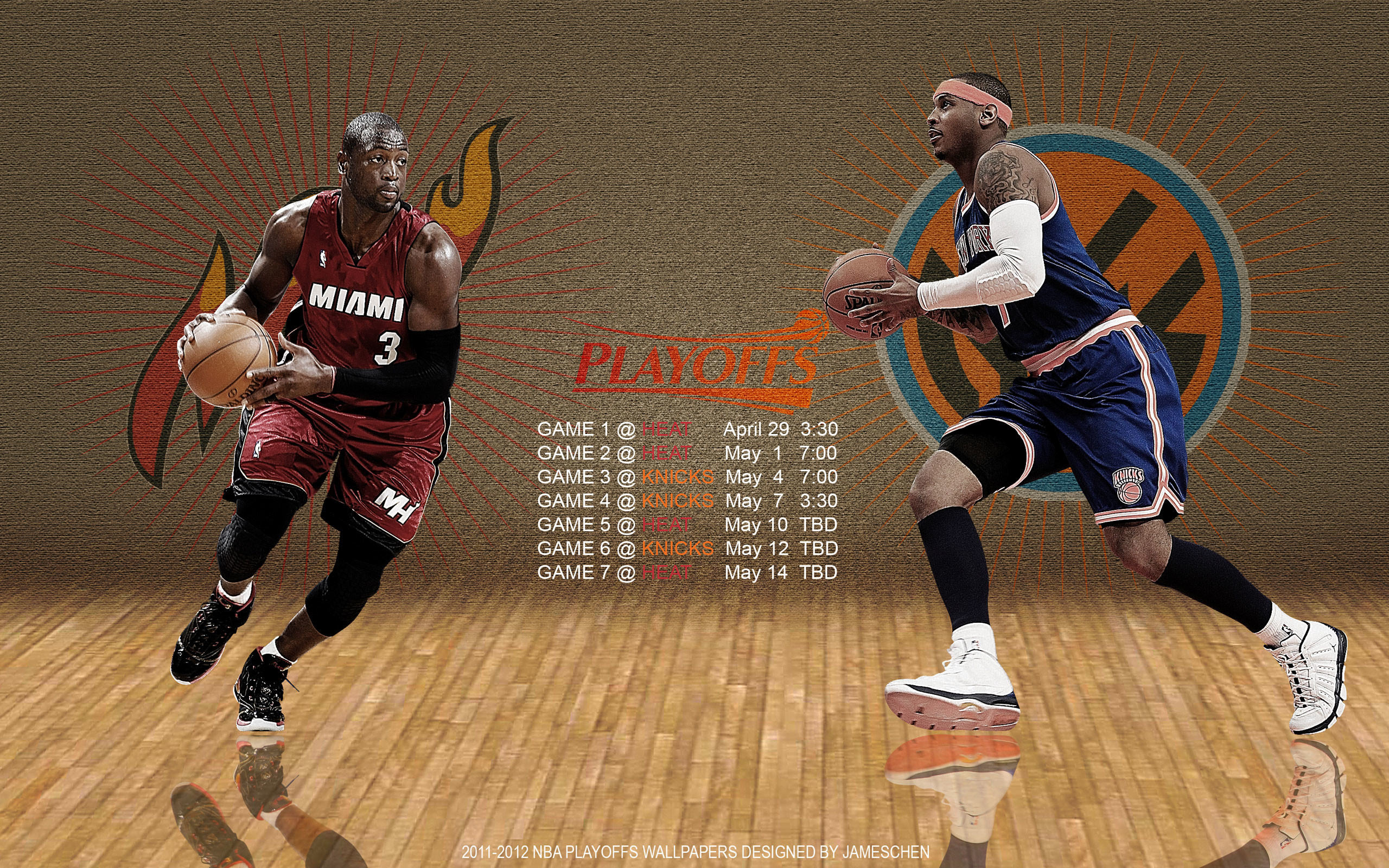 2560x1600 Heat - Knicks 2012 NBA Playoffs  Wallpaper Wallpaper